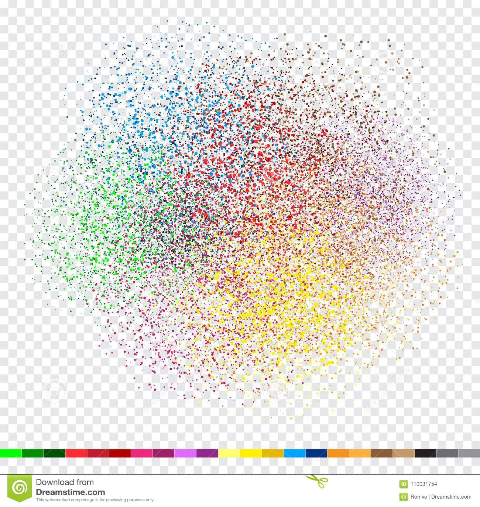 Het ontwerp witte transpaent van het confettienklatergoud