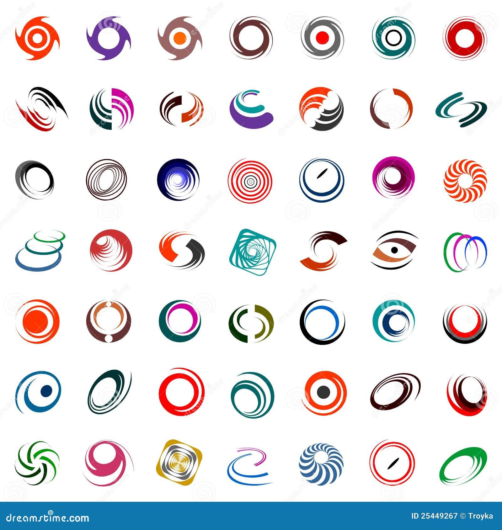 Het ontwerpelementen van de spiraal en van de omwenteling.