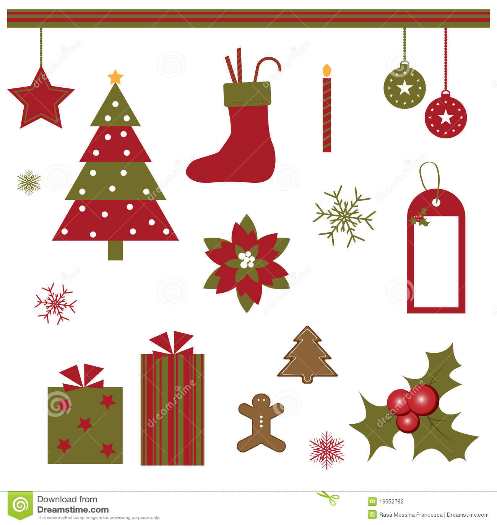Het ontwerpelementen van Kerstmis