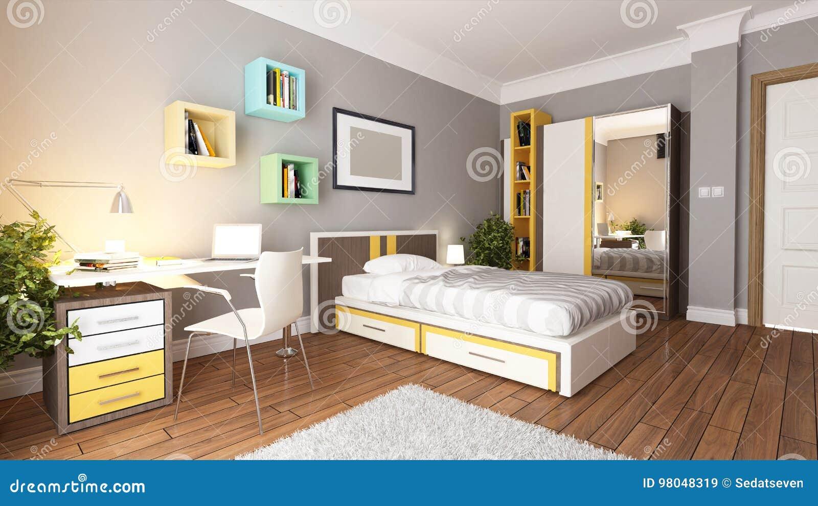 het ontwerpidee van de tiener jong slaapkamer