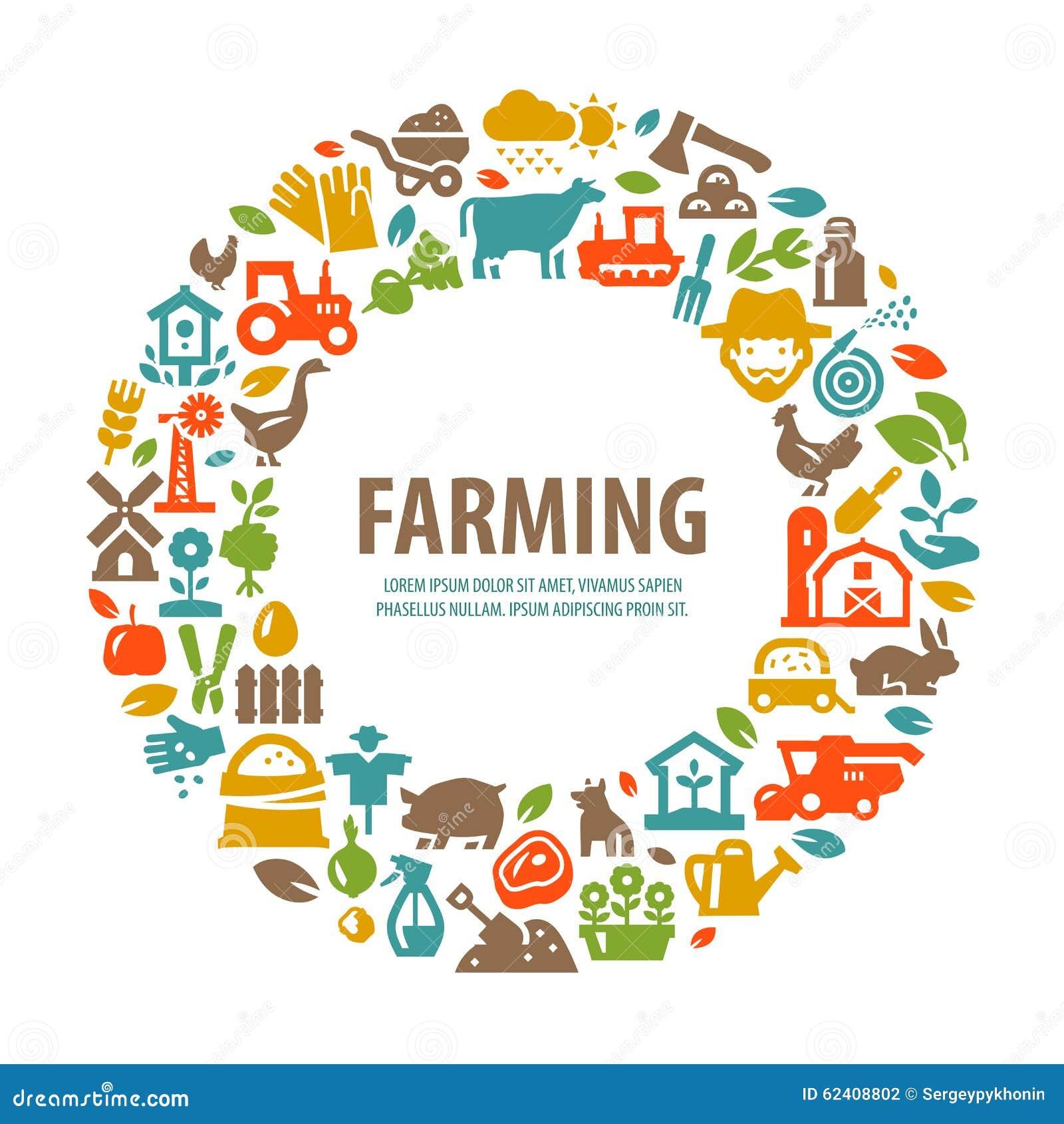 Het ontwerpmalplaatje van het landbouwbedrijf vectorembleem de landbouw oogst vector - Het upgraden van m ...
