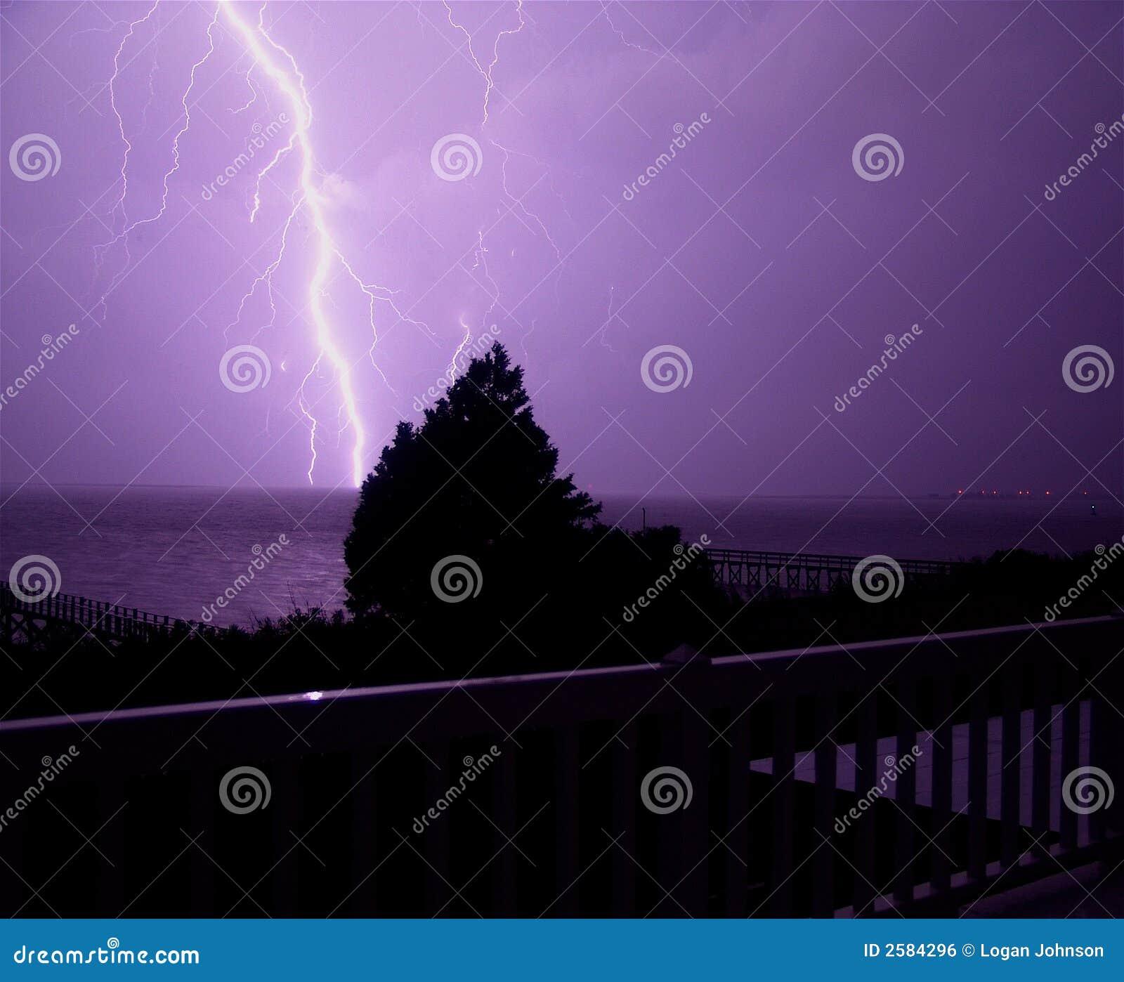 Het Onweer van de Bliksem van Noord-Carolina