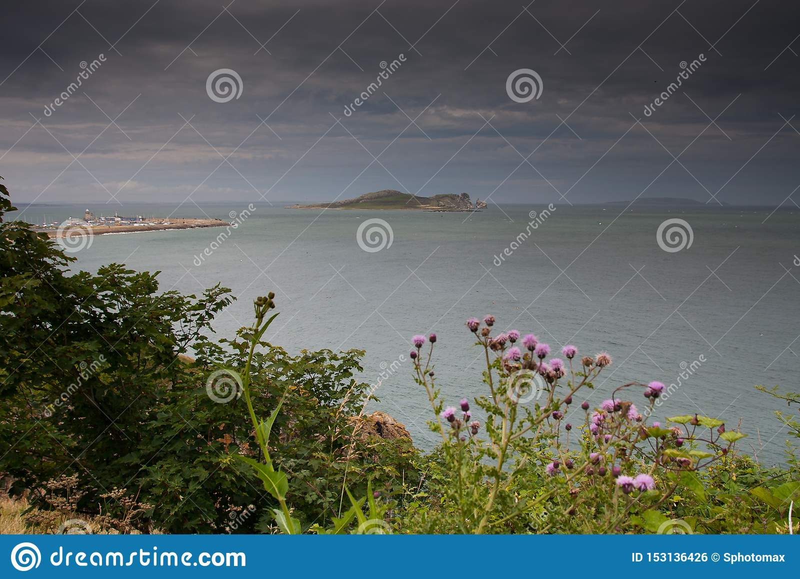 Het Oogeiland van Ierland uit Howth, Dublin, Ierland wordt genomen dat