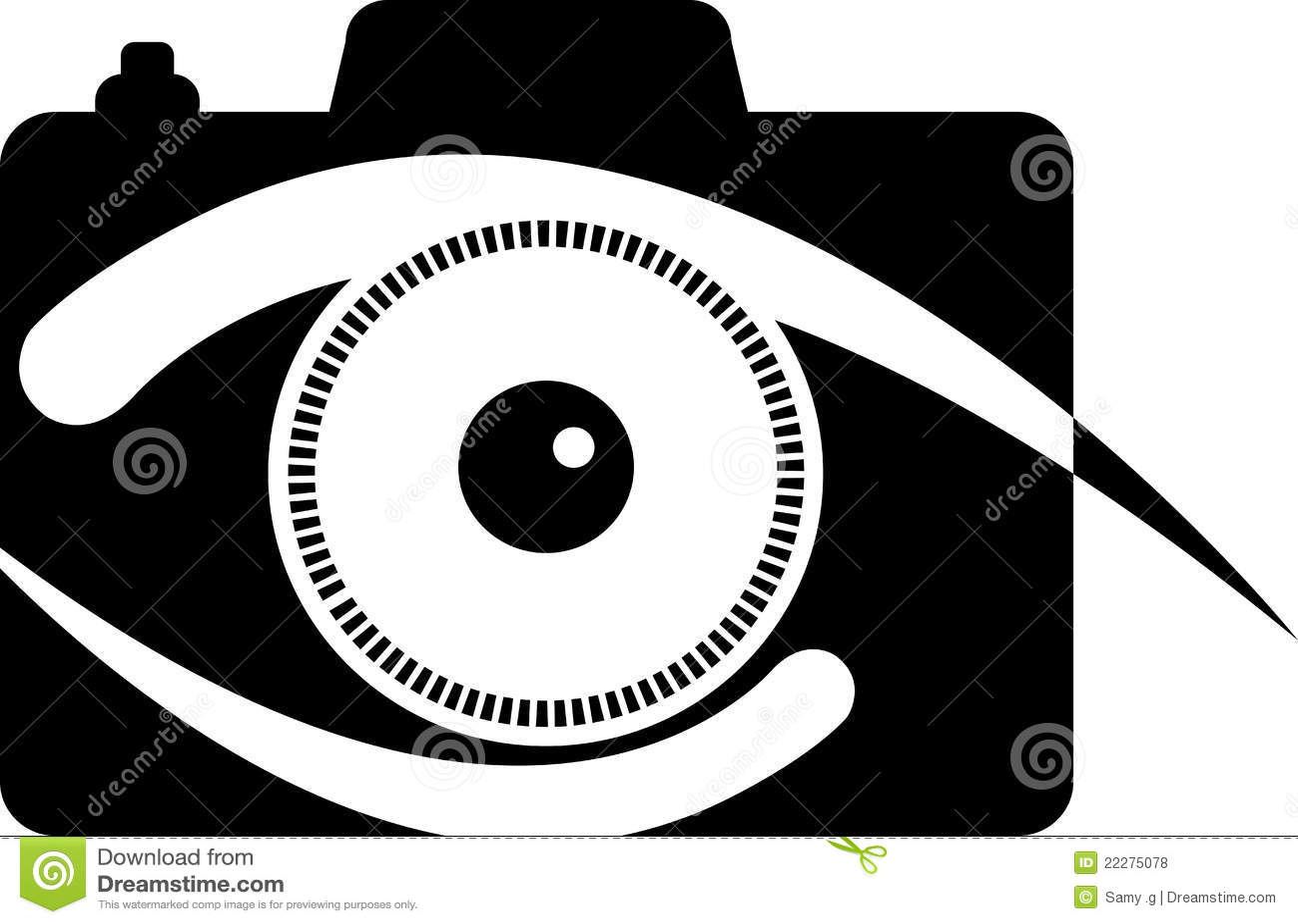 Het oogembleem van de camera