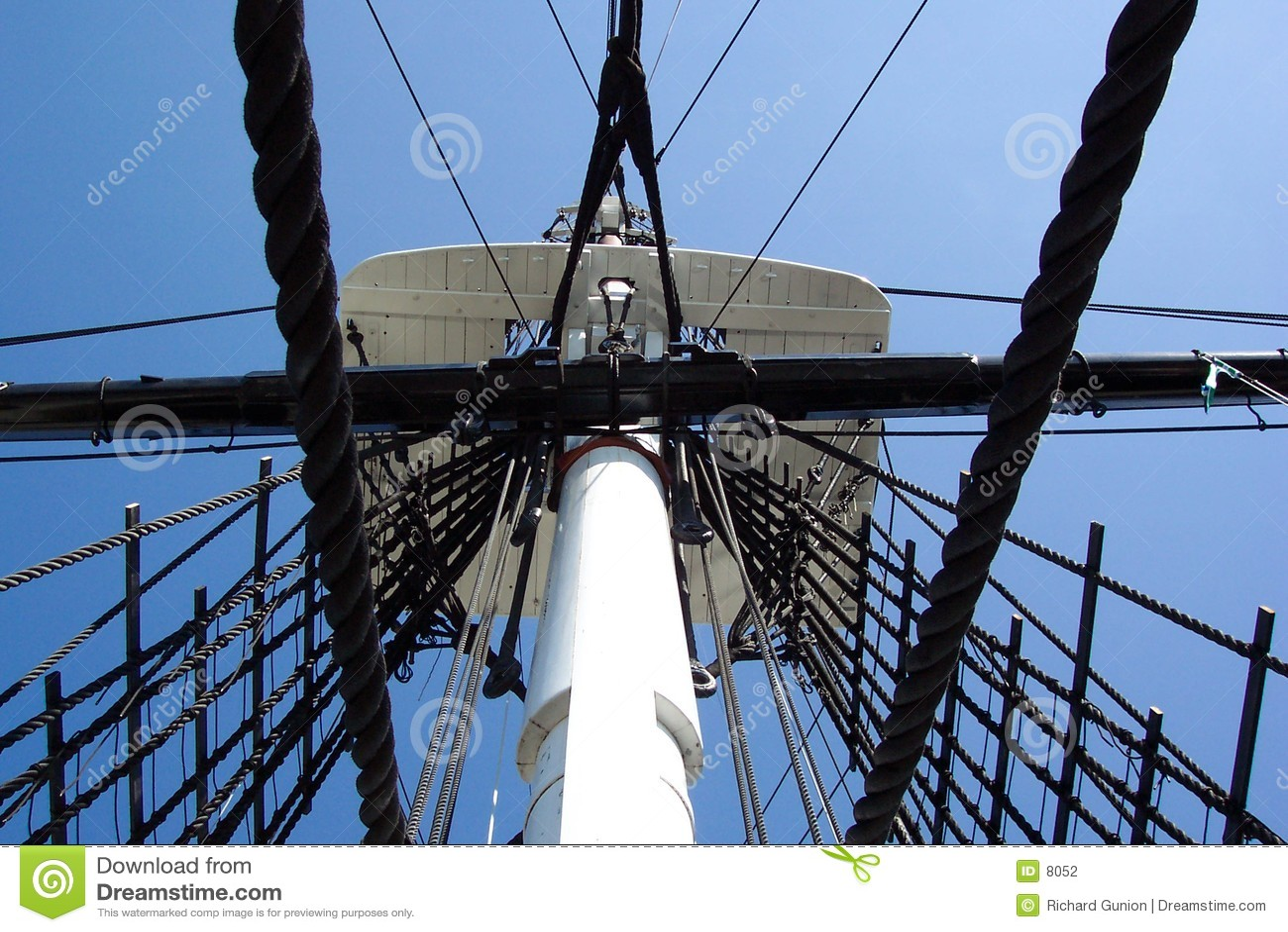 Het Oorlogsschip van de Grondwet van Crowes nest-U.S.S.