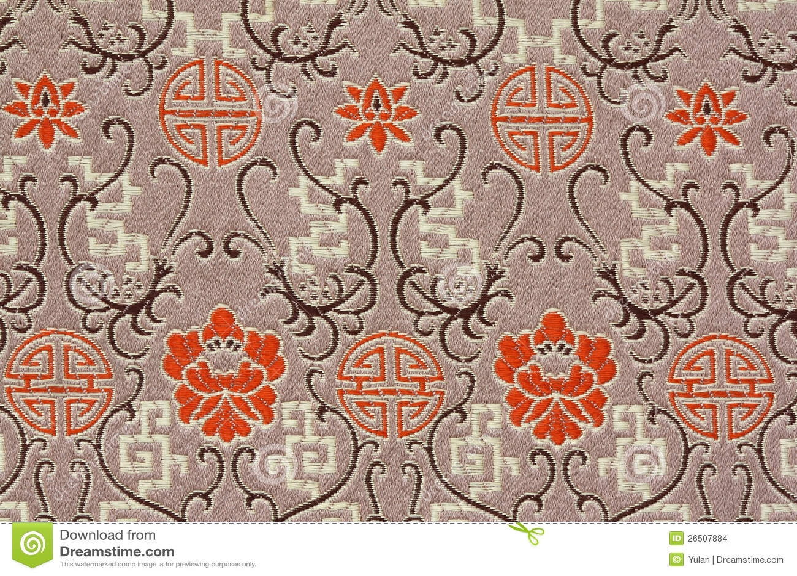 Het oosterse patroon van de stof van de zijde stock afbeeldingen afbeelding 26507884 - Oosters stof ...