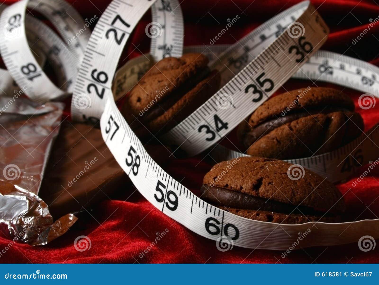 Het Op dieet zijn van de Koekjes van de chocolade Verleiding