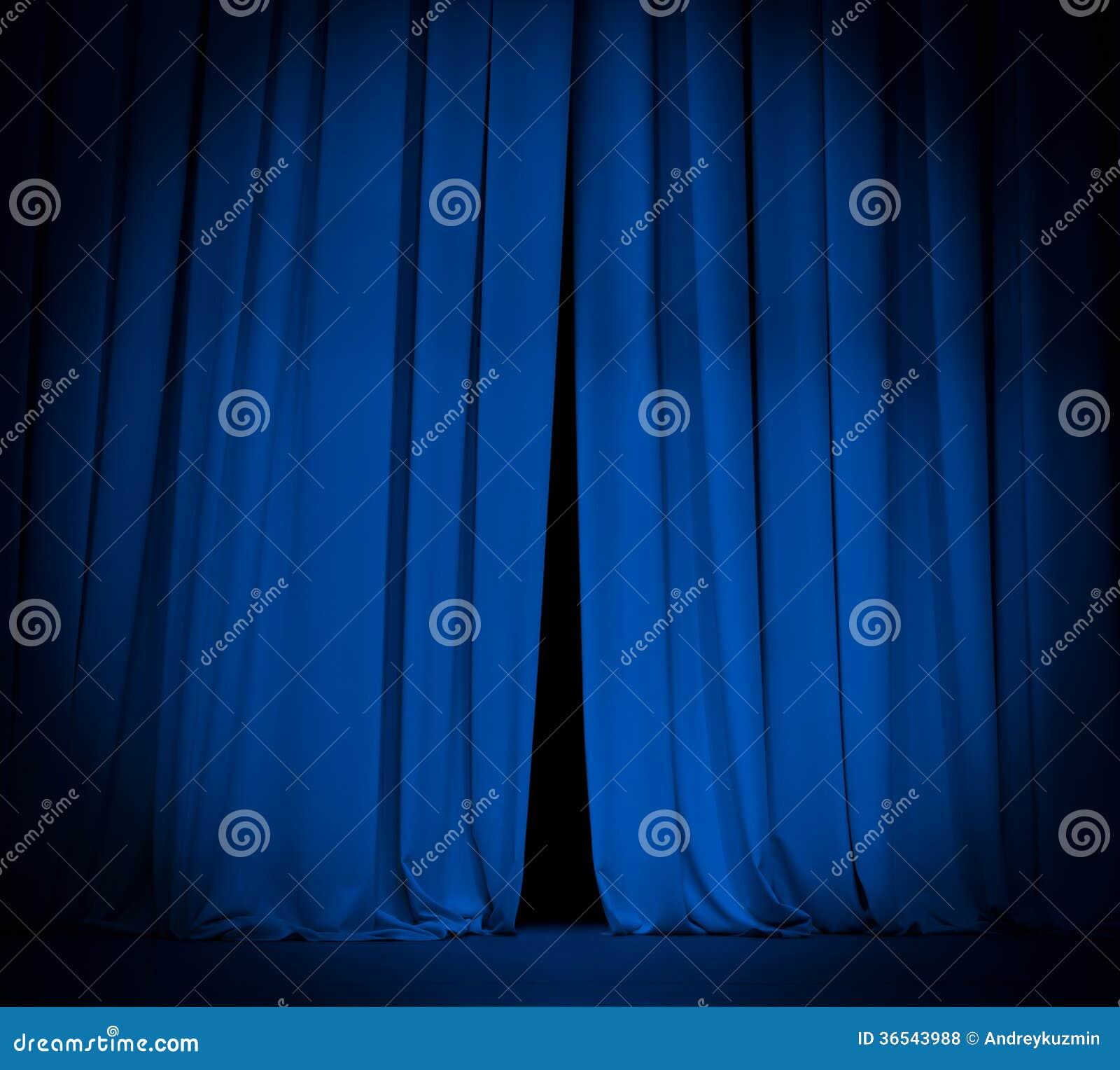 Het open blauwe gordijn van het theaterstadium met schijnwerper stock foto afbeelding 36543988 - Gordijn blauwe eend ...