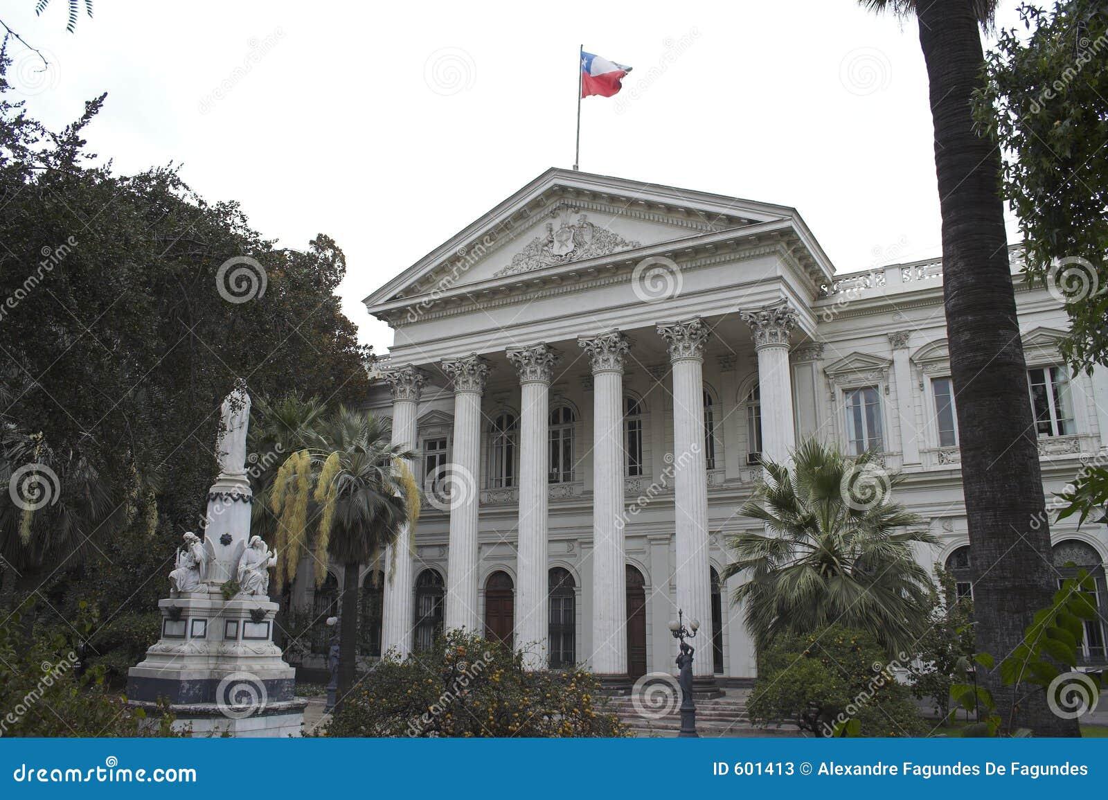 Het openbaar gebouw Santiago doet Chili