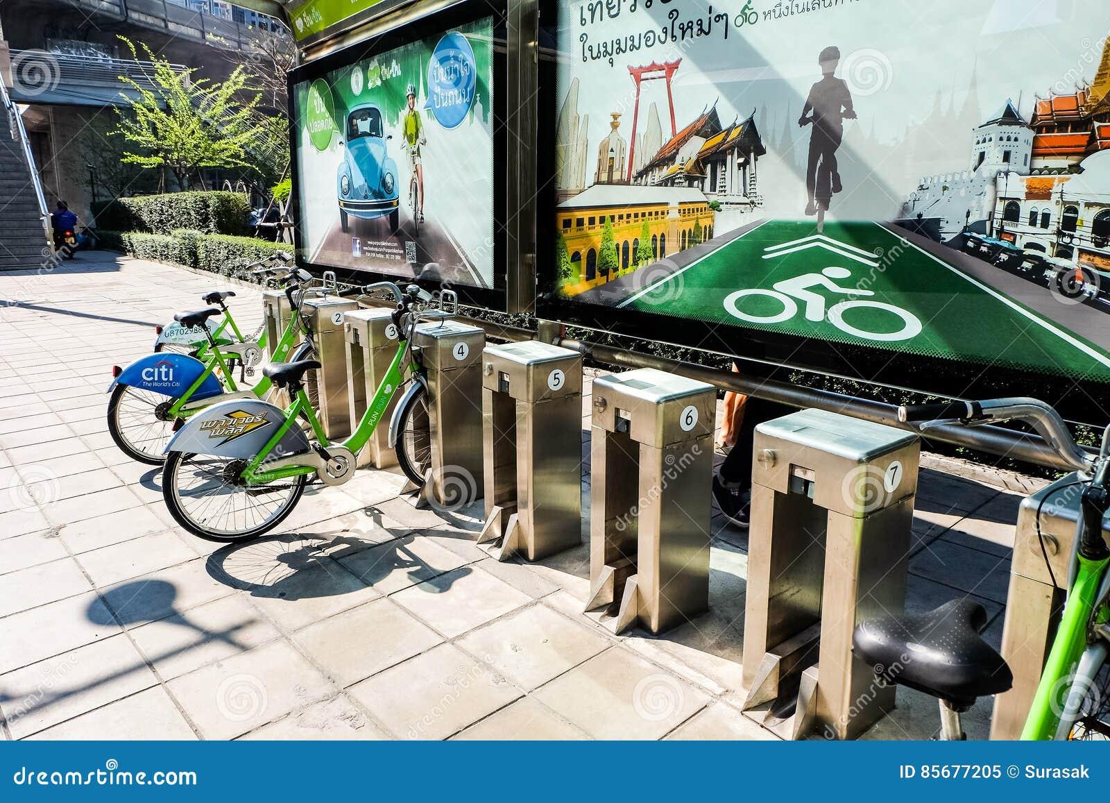 Het openbare systeem van de fietshuur