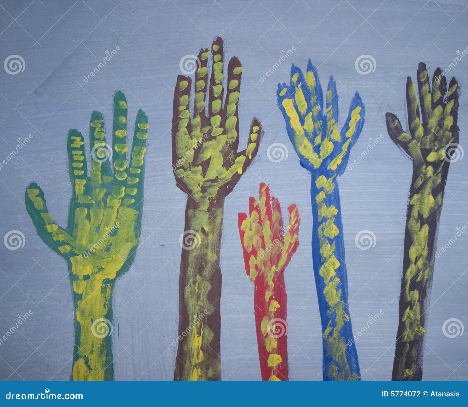 Het opheffen van handen