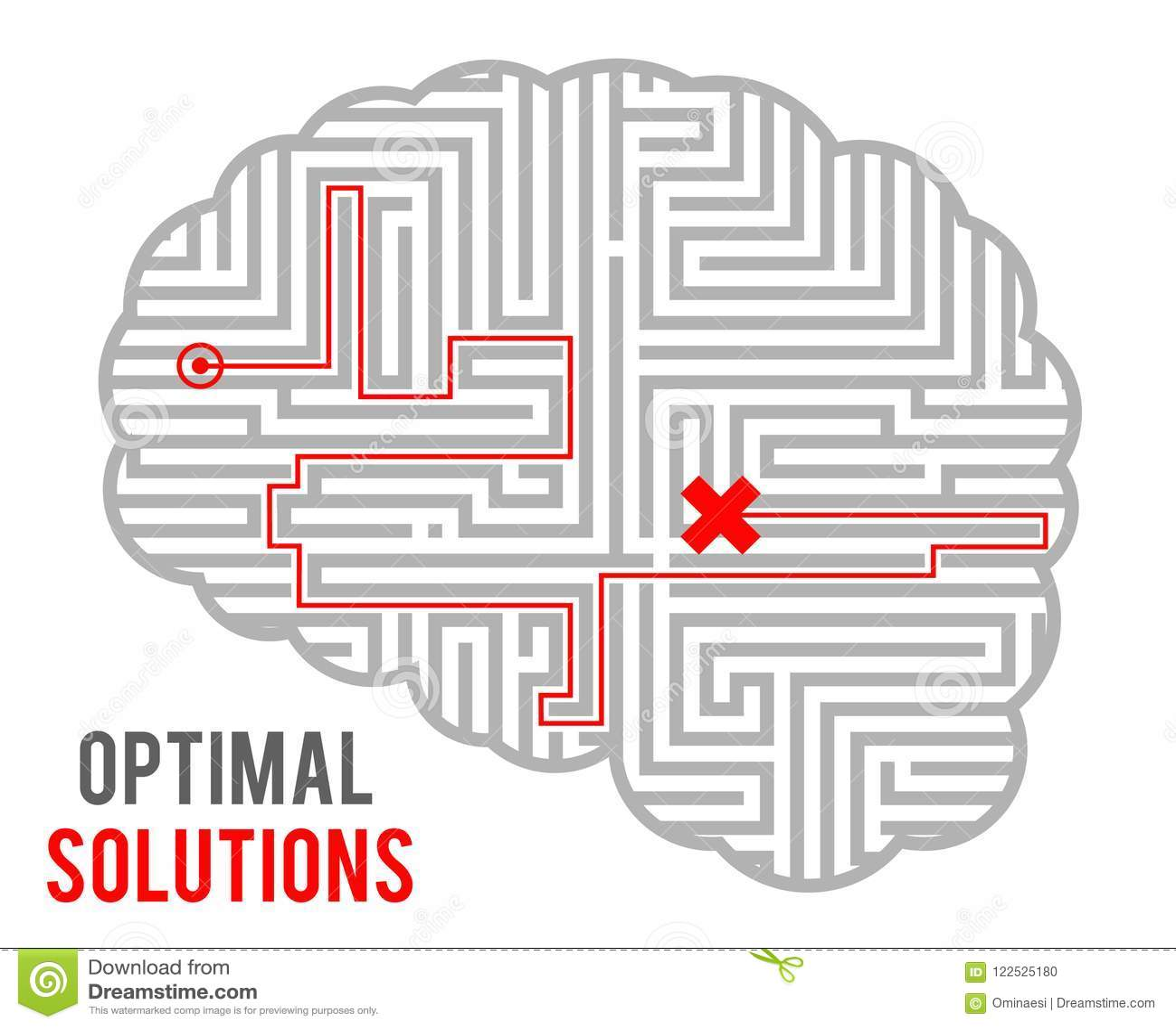Het optimale besluit die van de herseneningewikkeldheid - oplossingen maken vat labyrintlabyrint samen monochromatisch geometrisc