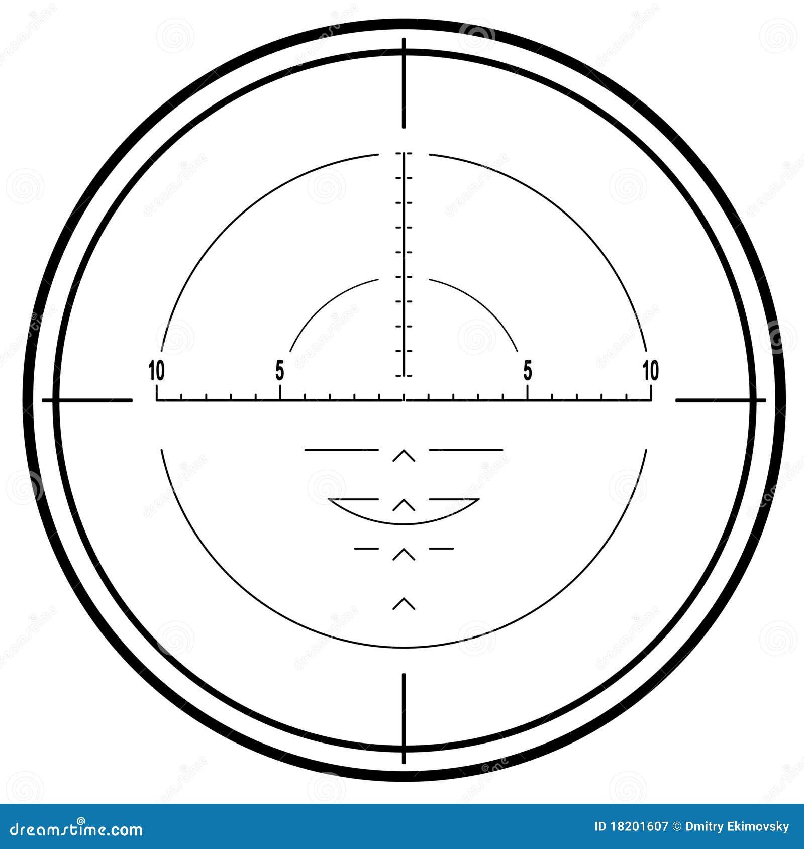 Het optische gezicht van het sluipschuttergeweer