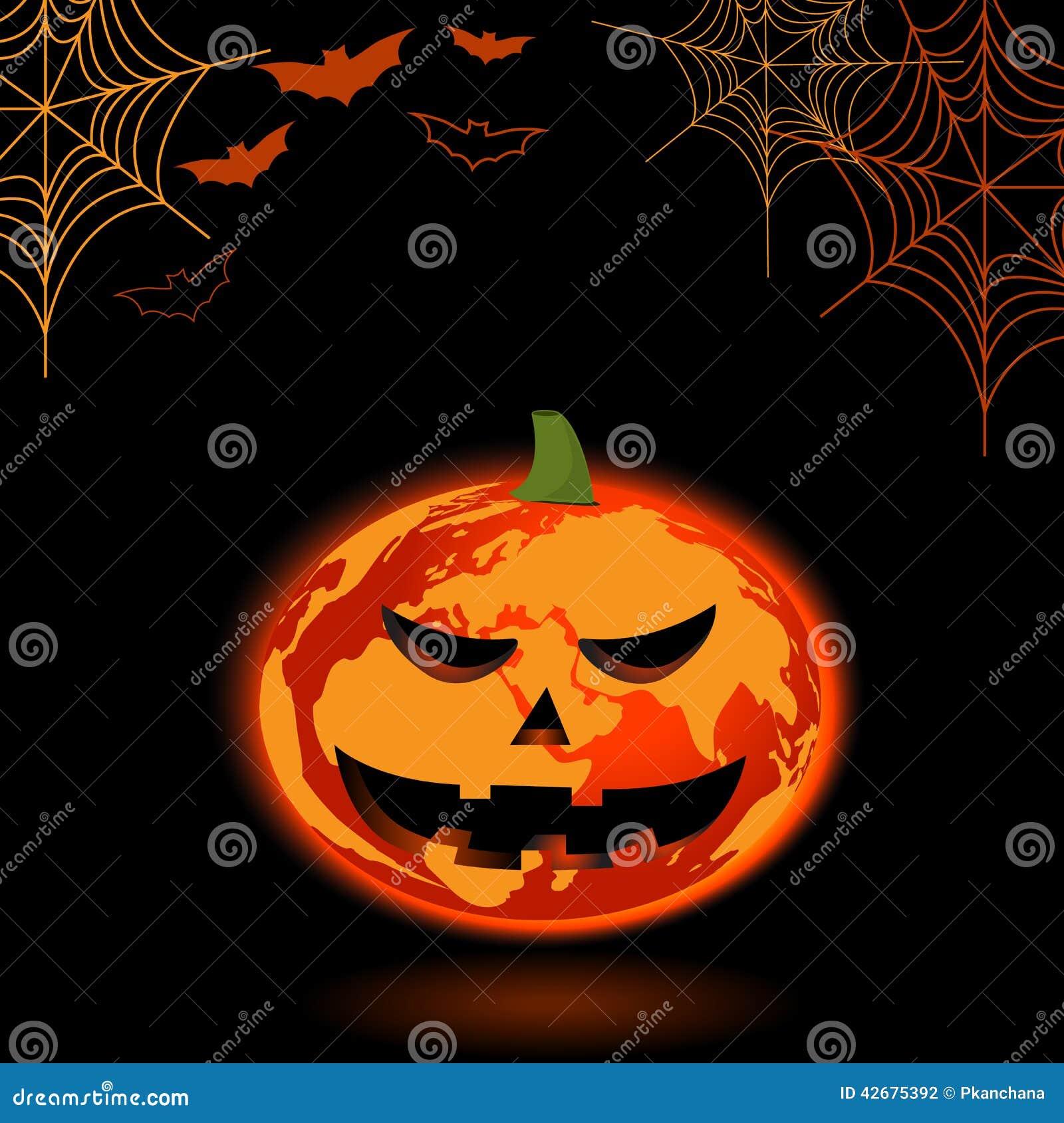 Pompoen En Halloween.Het Oranje Concept Van Het Aardeontwerp Als Pompoen En