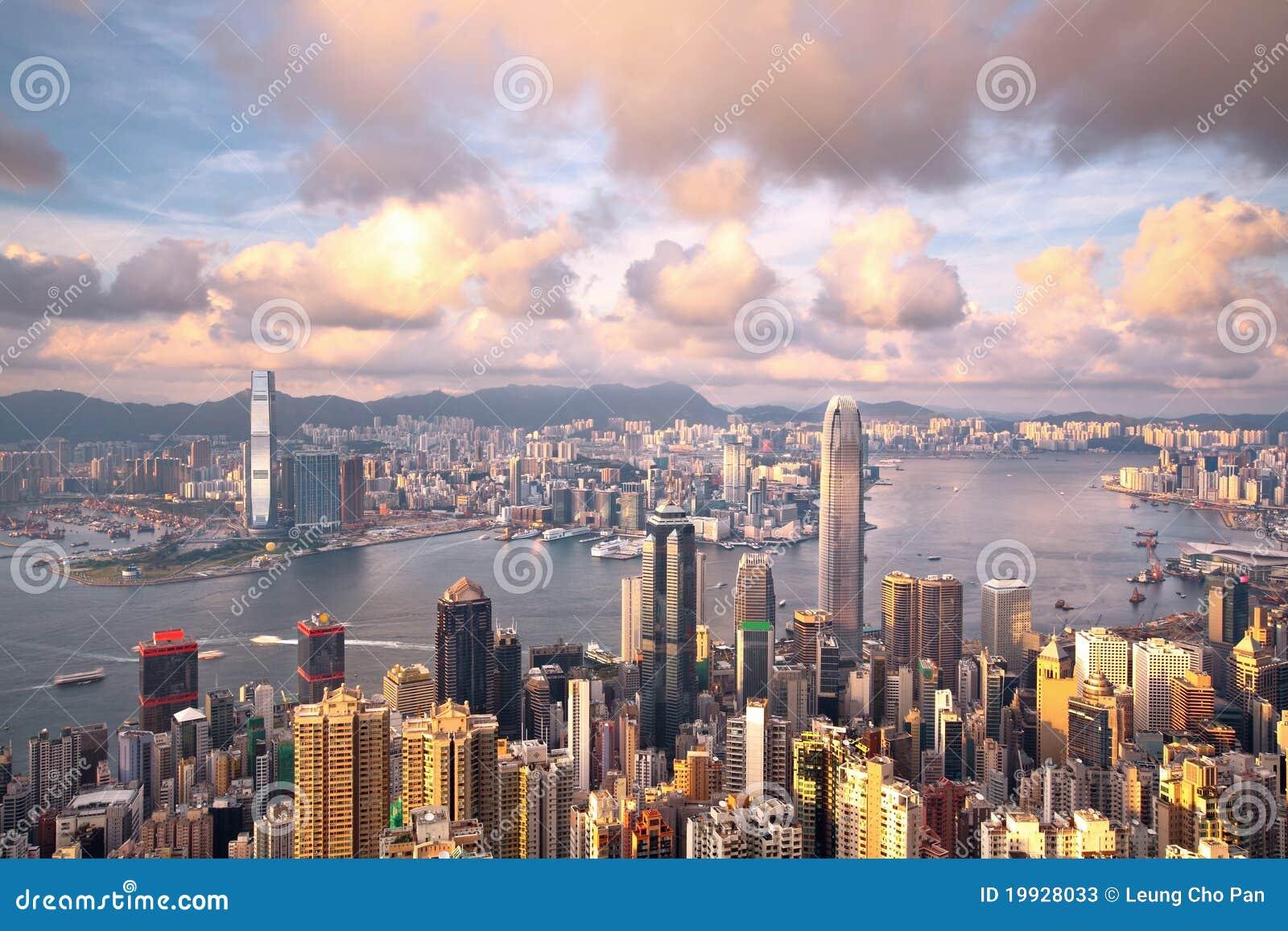 Het oriëntatiepunt van Hongkong