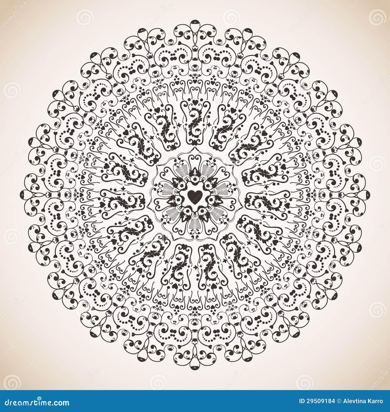 Het ornament van de cirkel