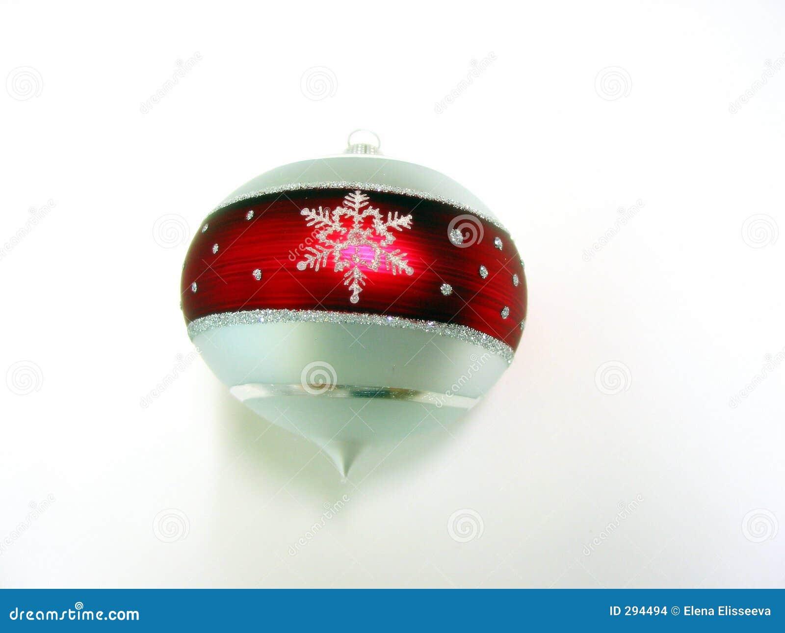 Het ornament van Kerstmis met sneeuwvlok