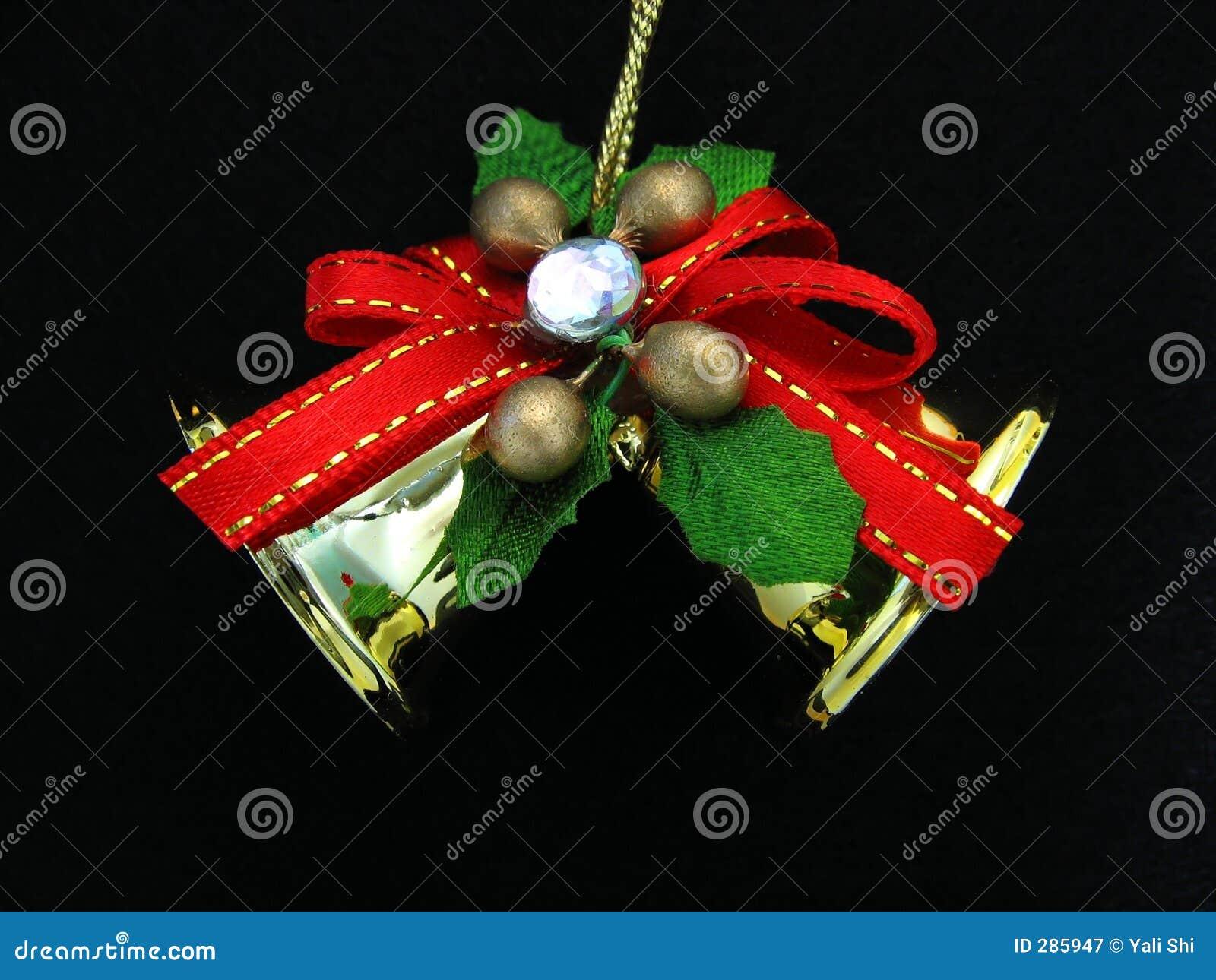 Het Ornament van Kerstmis op Zwarte Achtergrond