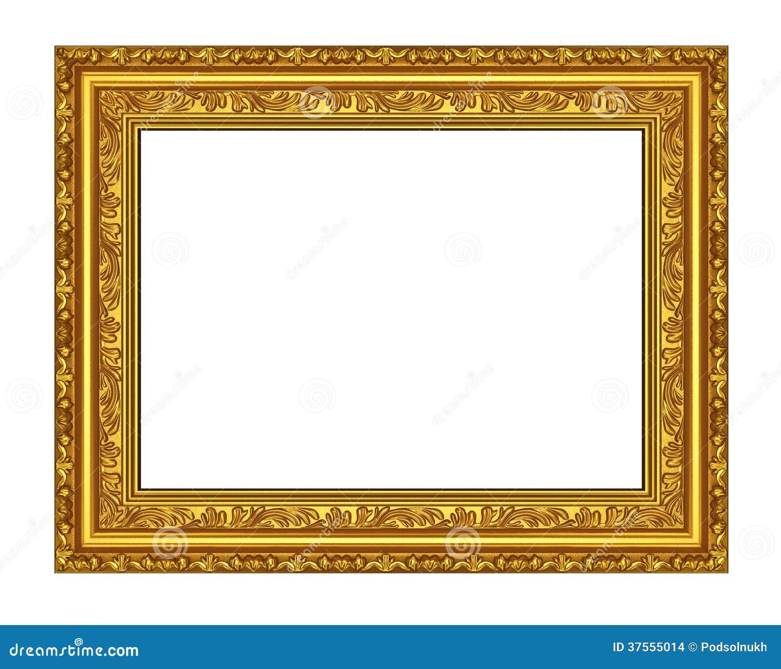 Het oude gouden houten kader stock afbeeldingen afbeelding 37555014 - Deco eetkamer oud ...