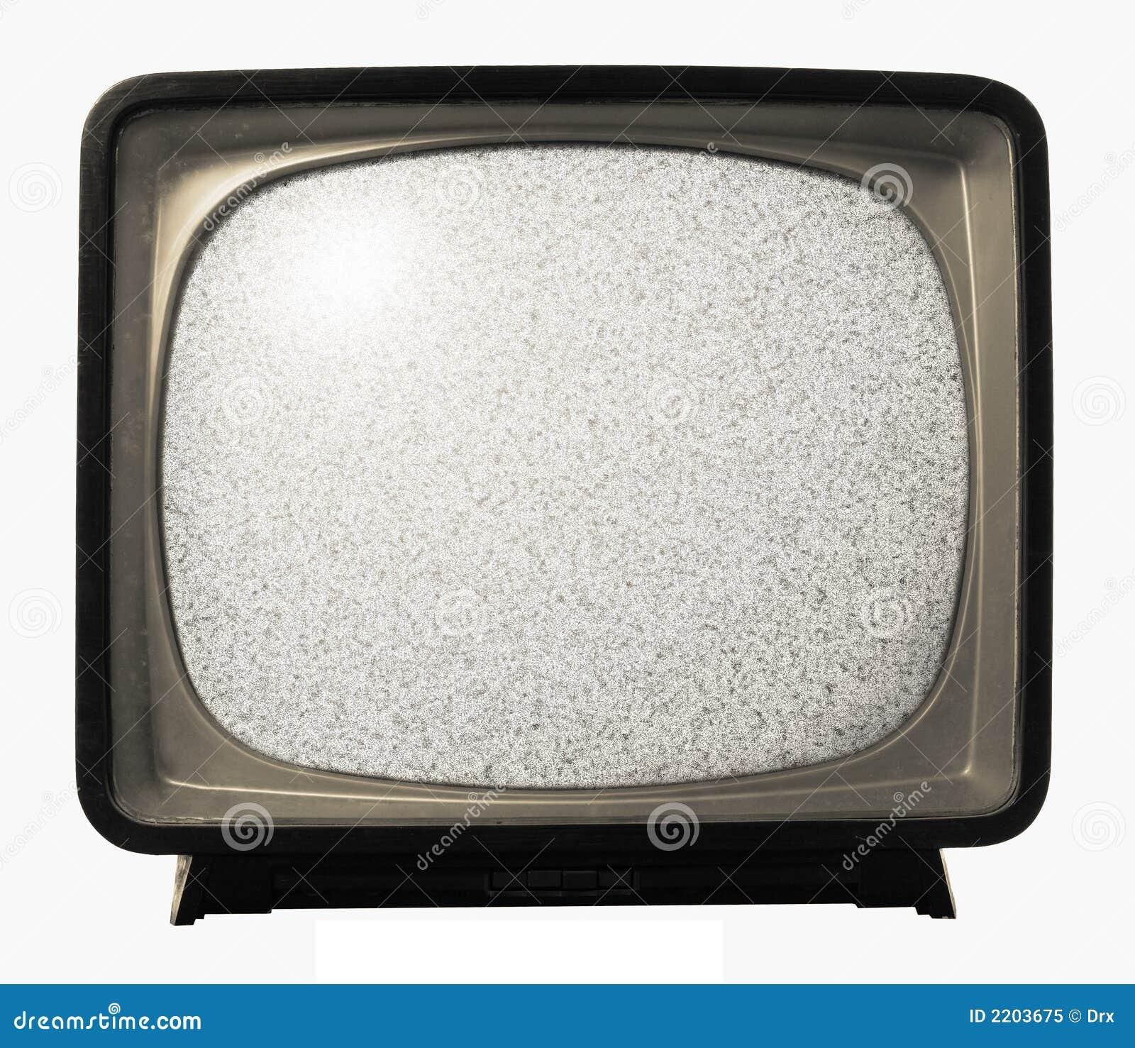 Het oude Retro lawaai van TV