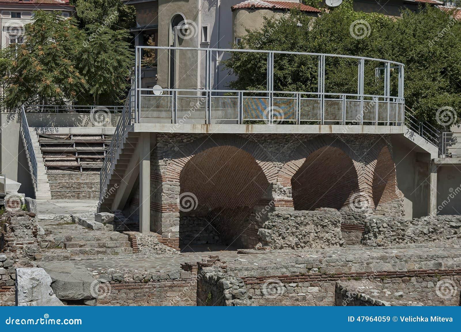 Het oude stadion Philipopolis in Plovdiv, Bulgarije