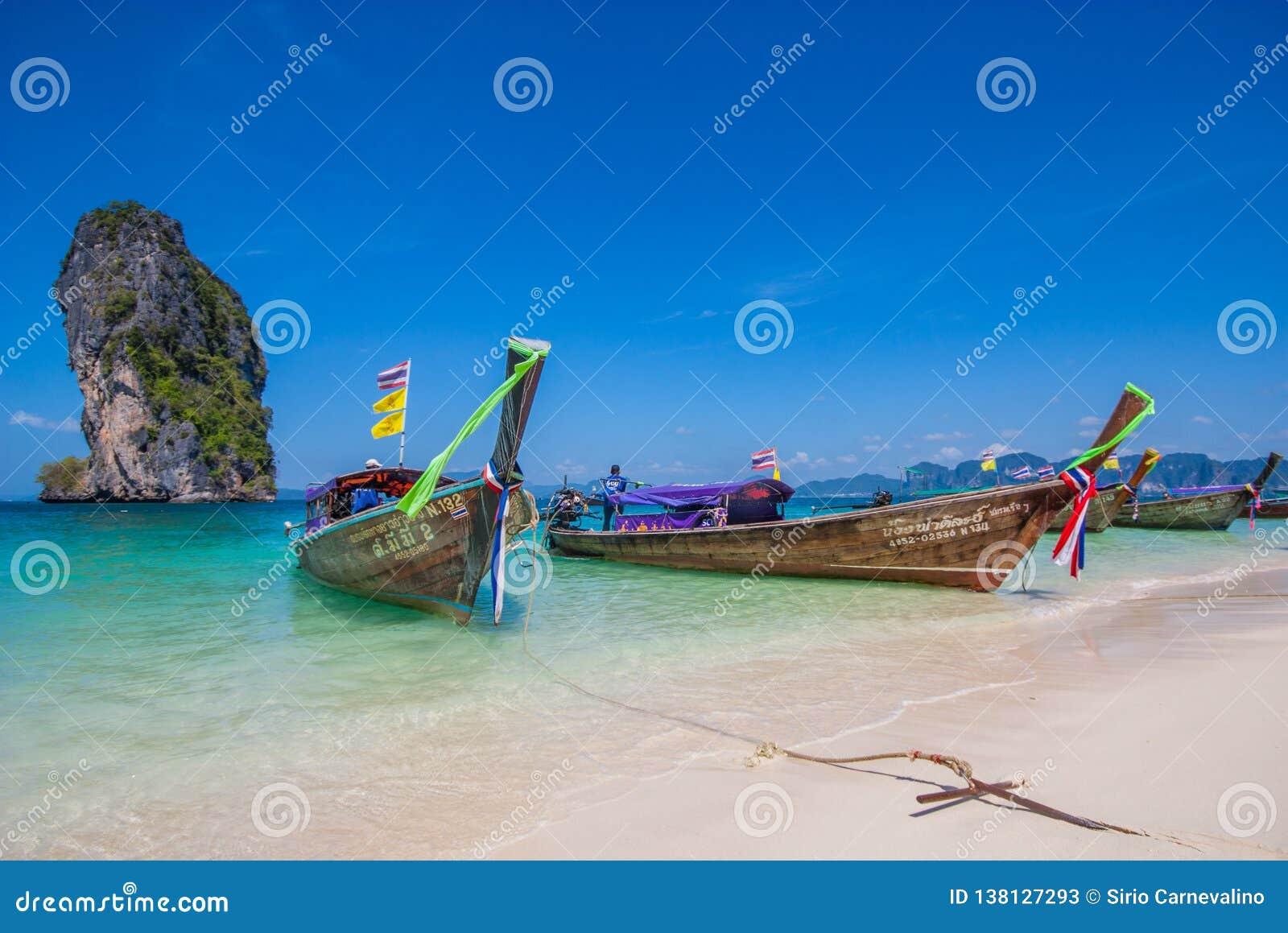 Het overweldigende Ao Phra Nang Strand, Thailand