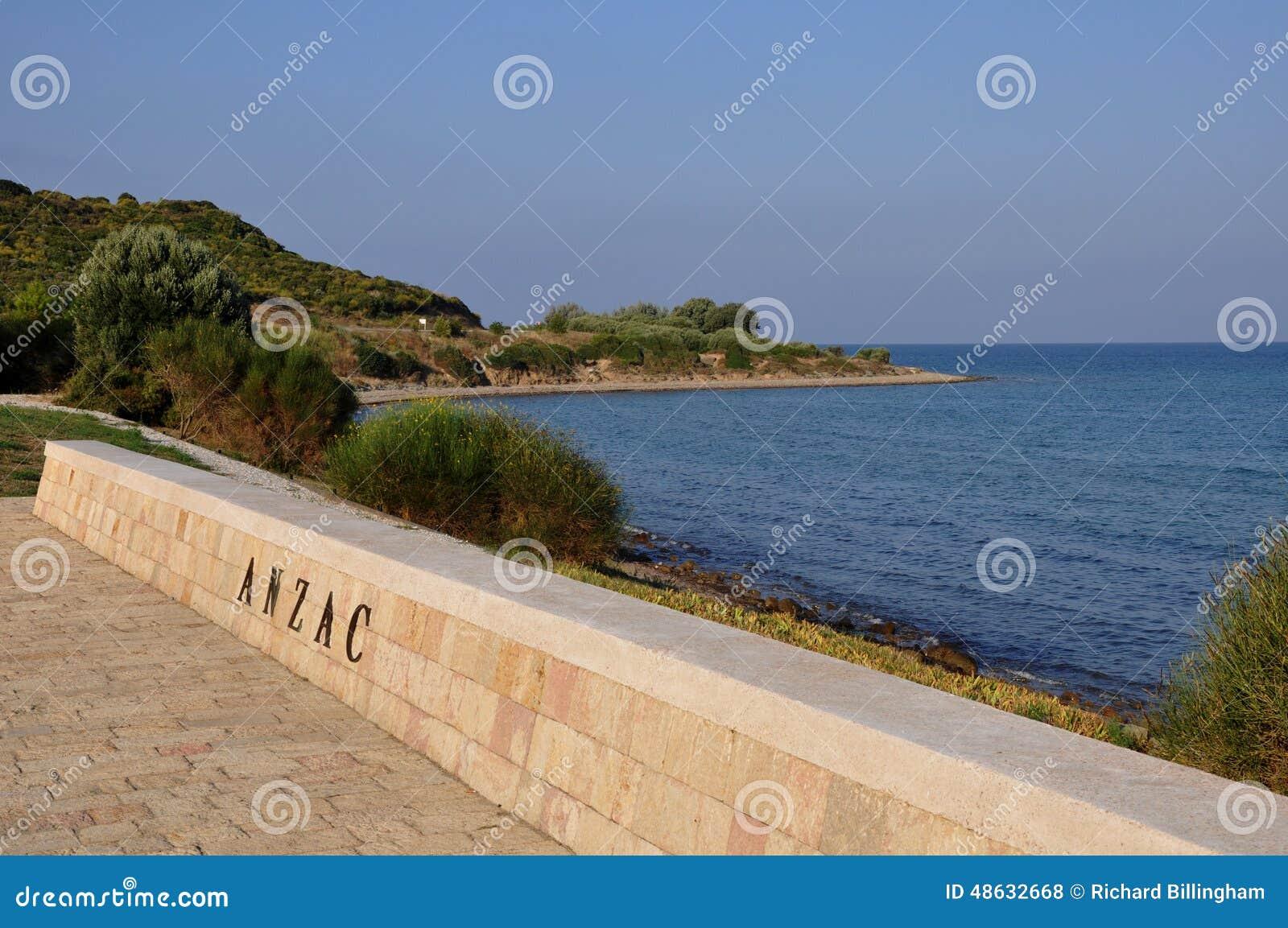 Het Overzees van Anzac Cove & Aegian-, Galllipoli, Turkije