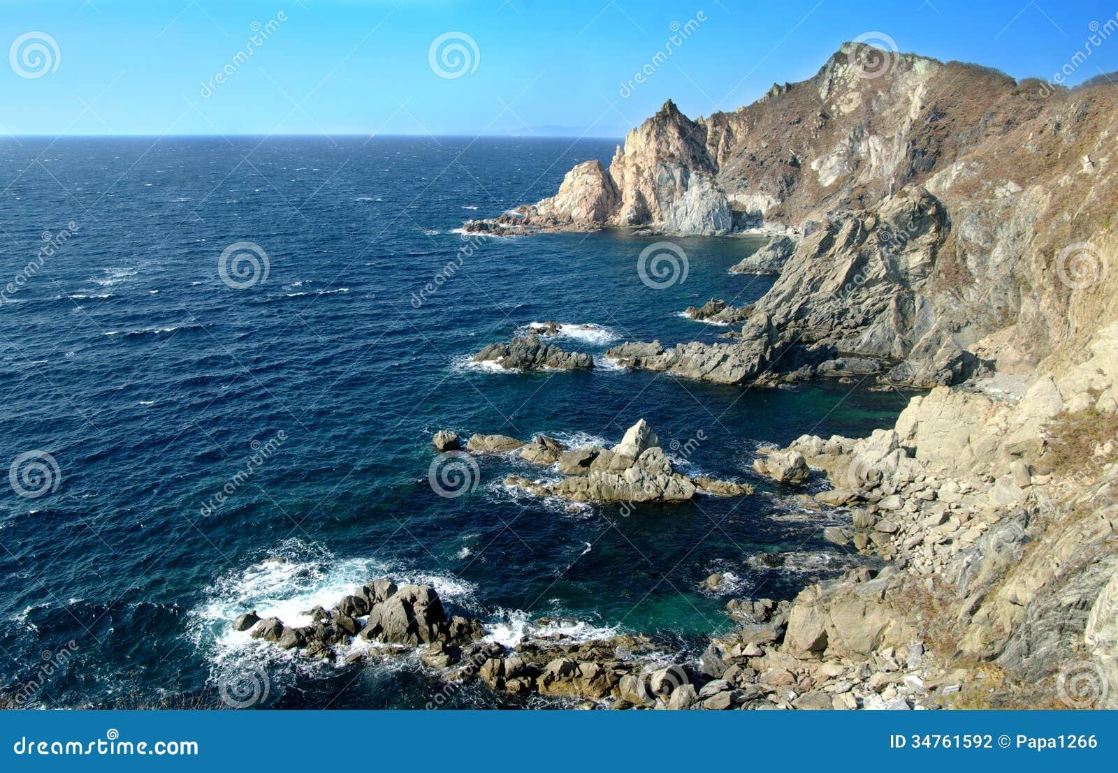 Het overzees van Japan, Primorsky-krai. Rusland