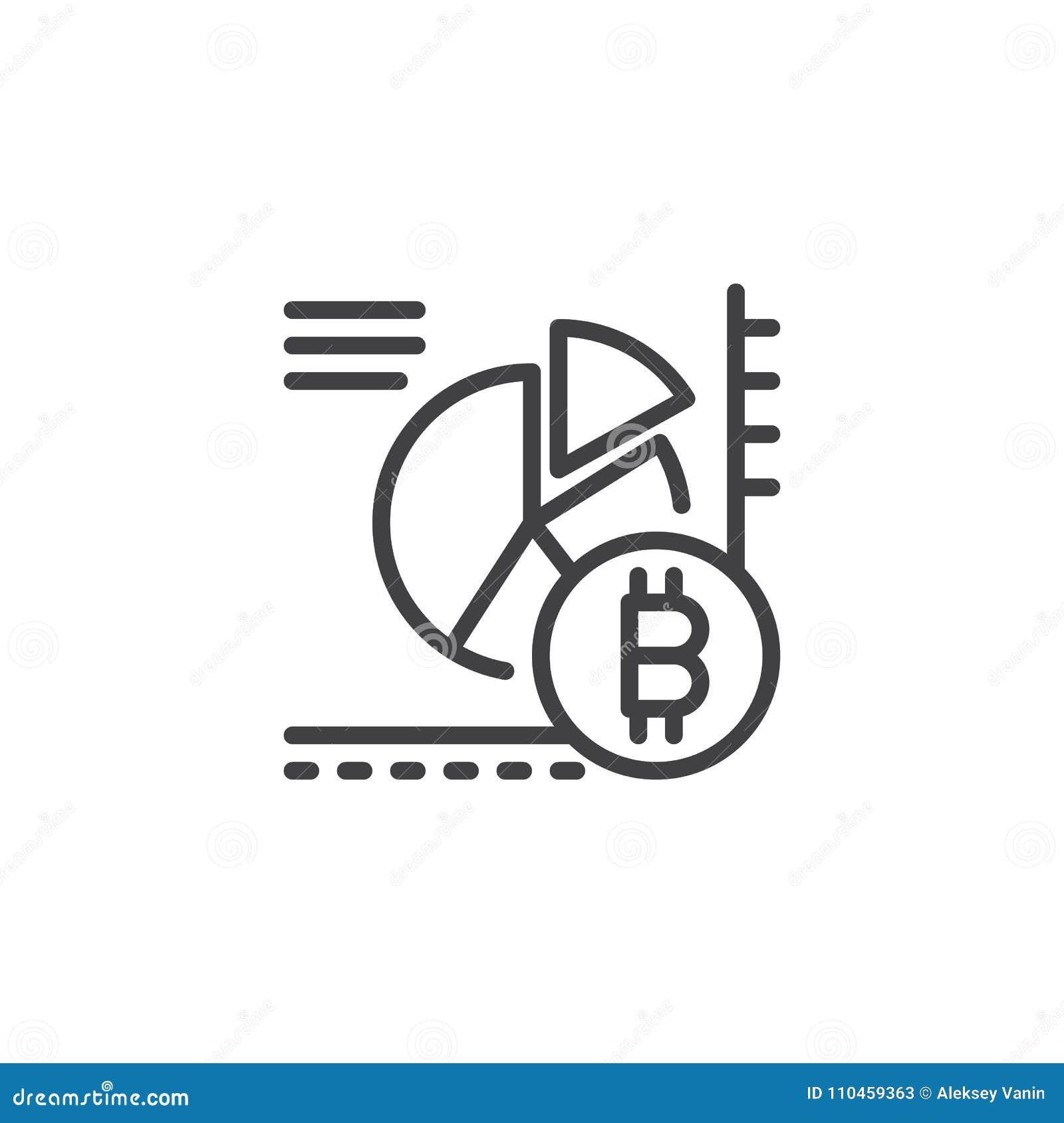 Het overzichtspictogram van het Bitcoincirkeldiagram