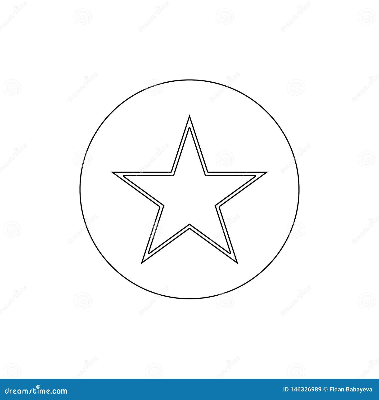 Het overzichtspictogram van de referentie favoriet ster De tekens en de symbolen kunnen voor Web, embleem, mobiele toepassing, UI