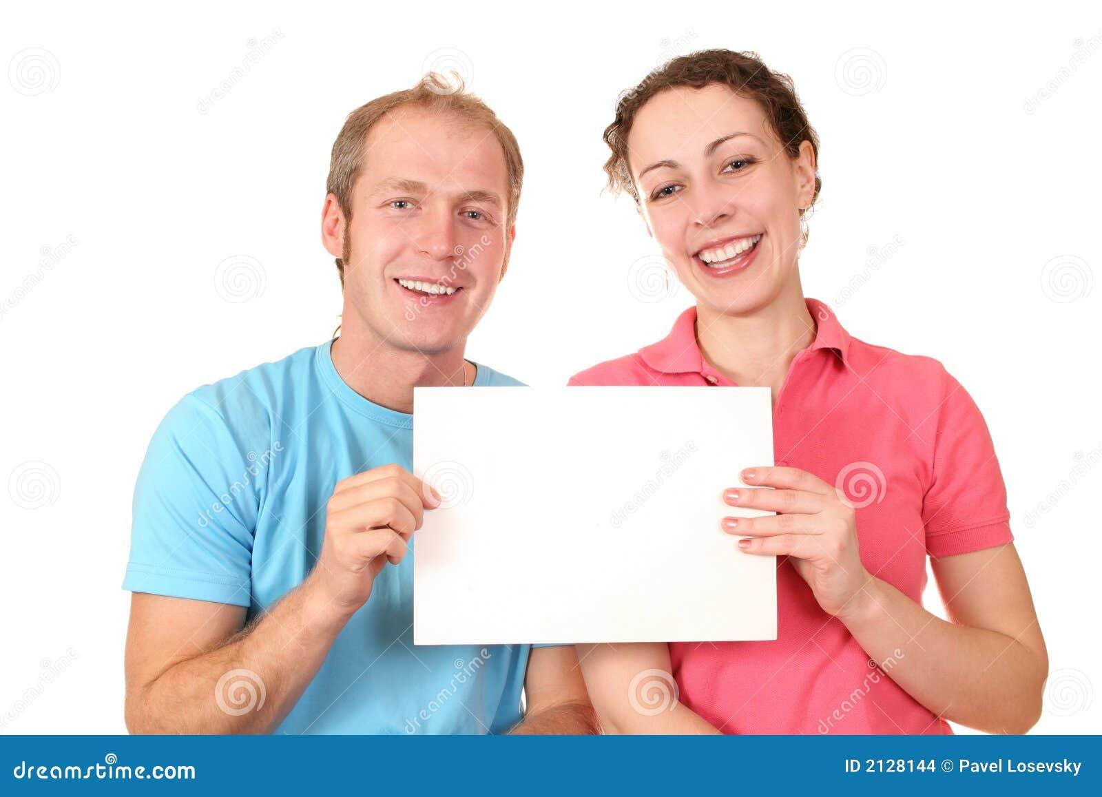Het paar van de kleur met kaart