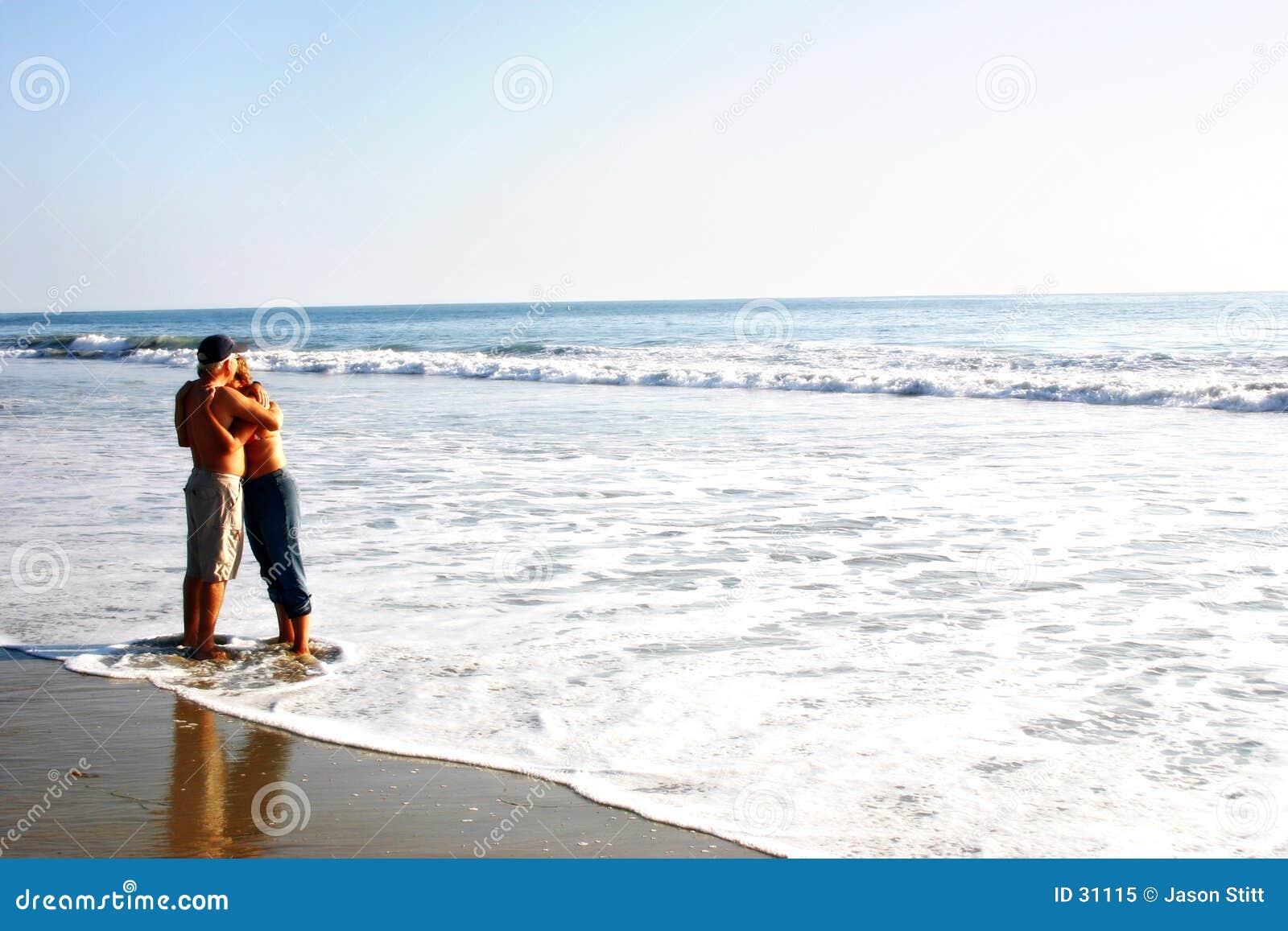 Het Paar van het strand