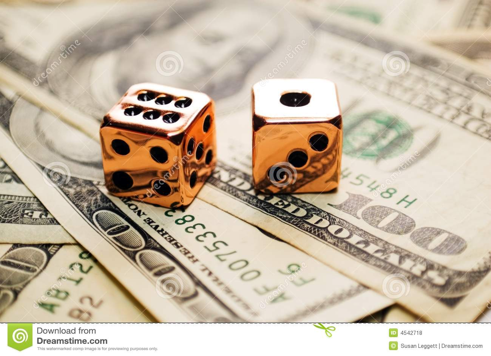 Het paar van Koper dobbelt op Geld