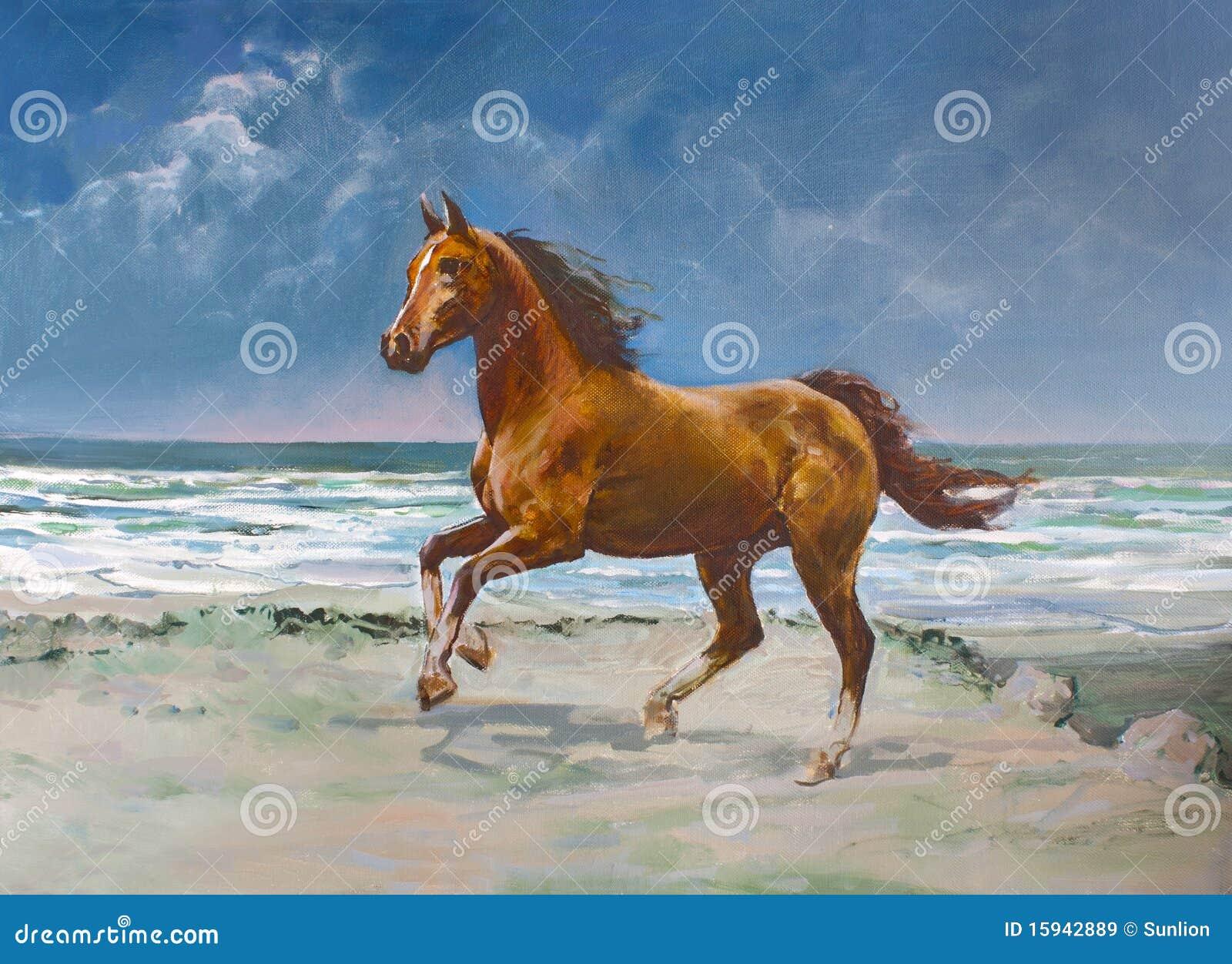 Het paard van de kastanje, het schilderen