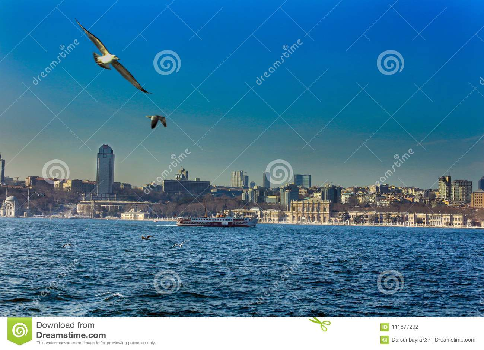 Het Paleis Istanboel van Bosphorusdolmabahce