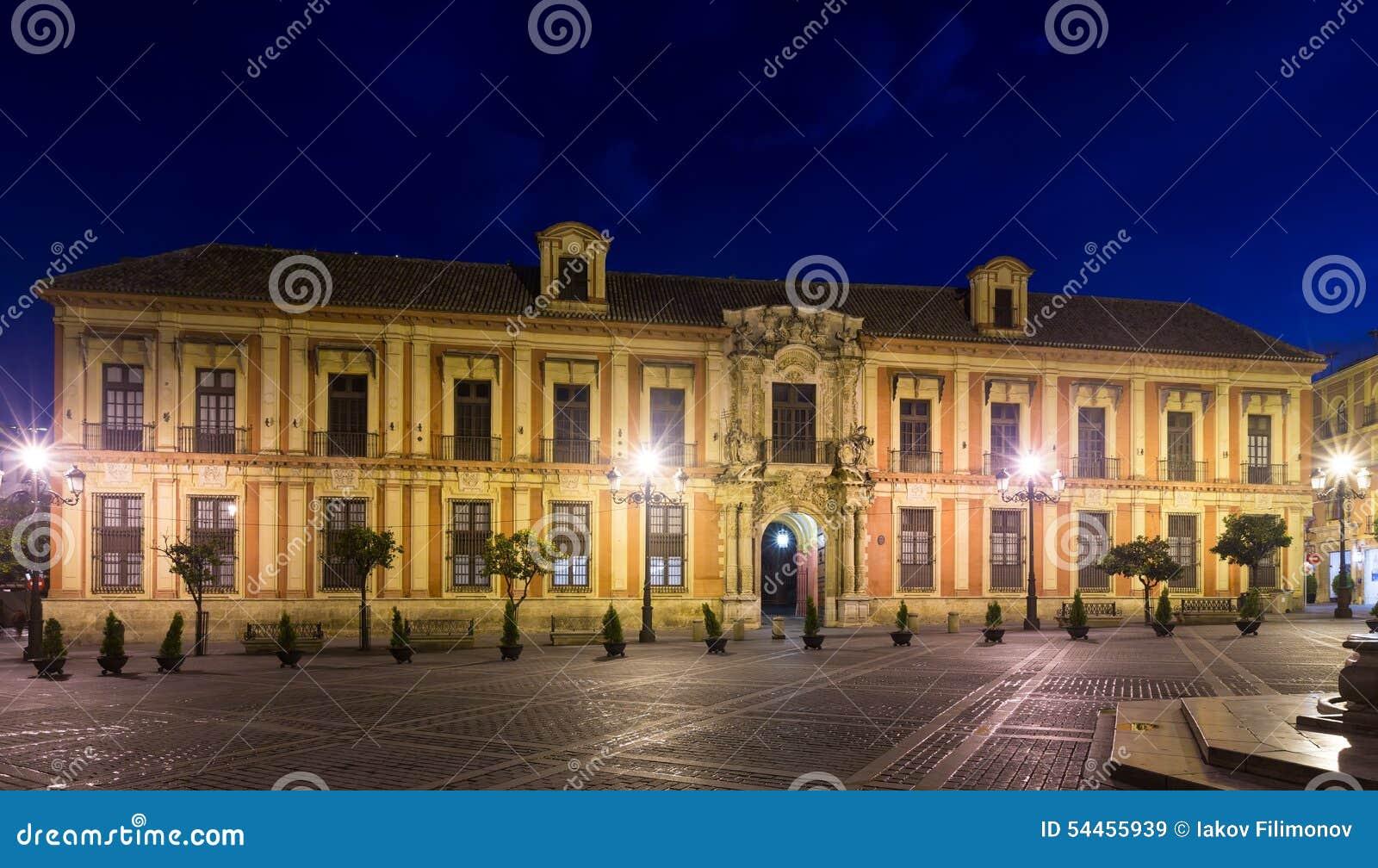 Het Paleis van de aartsbisschop Sevilla, Spanje