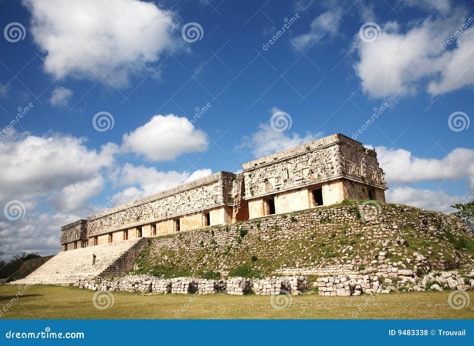 Het paleis van de Gouverneur van Uxmal, Mexico