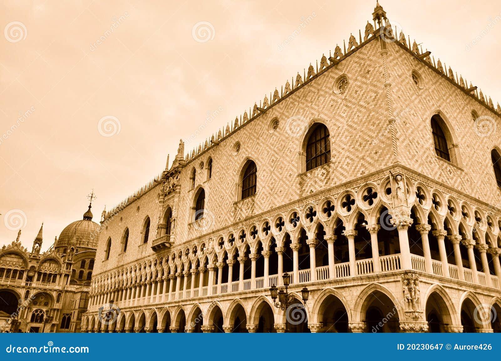 Het Paleis van doges in Venetië