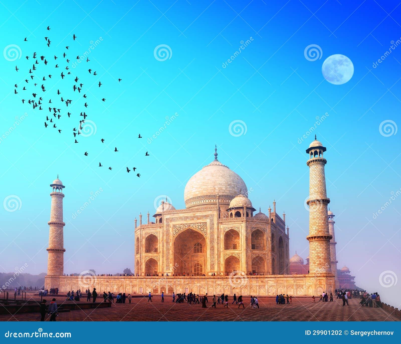 Het Paleis van Mahal van Taj in India