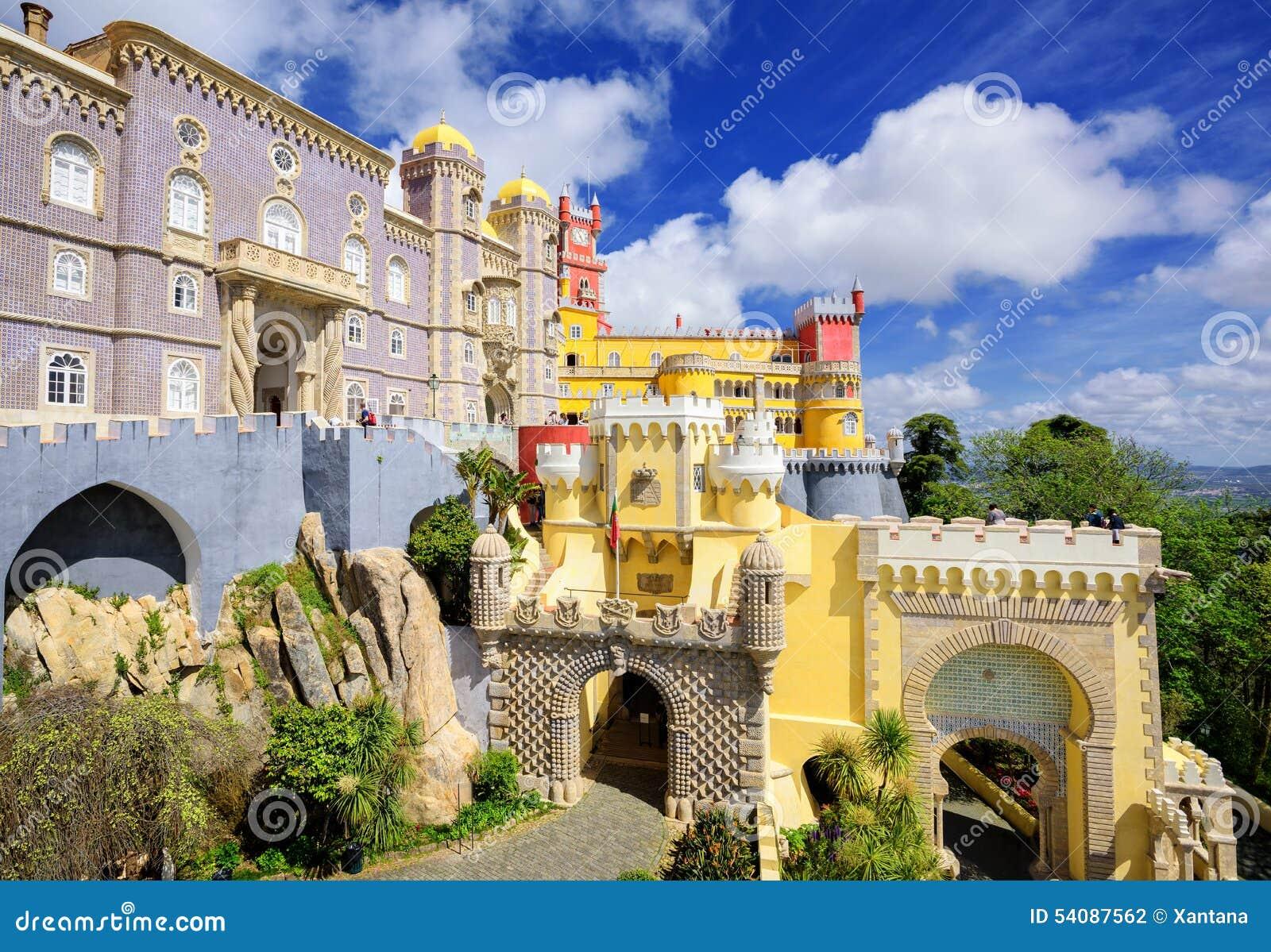 Het paleis van Pena, sintra, Portugal