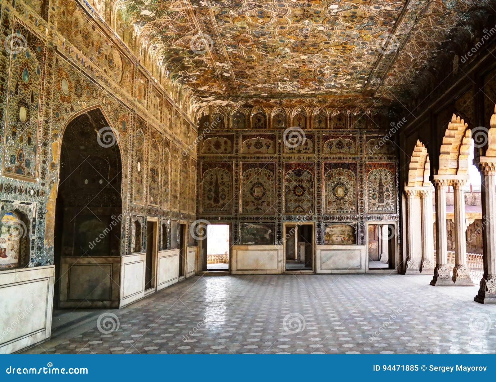 Het Paleis van Sheeshmahal in Lahore-fort, Pakistan