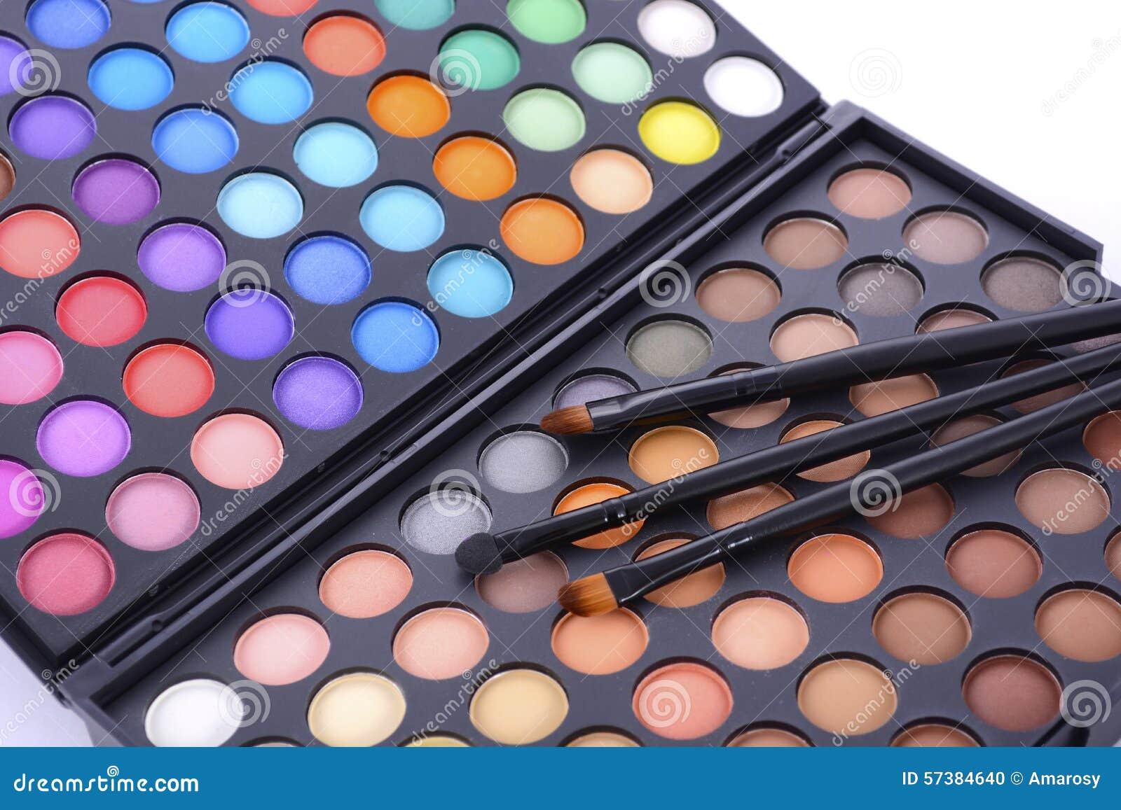 Het palet van de make-upoogschaduw