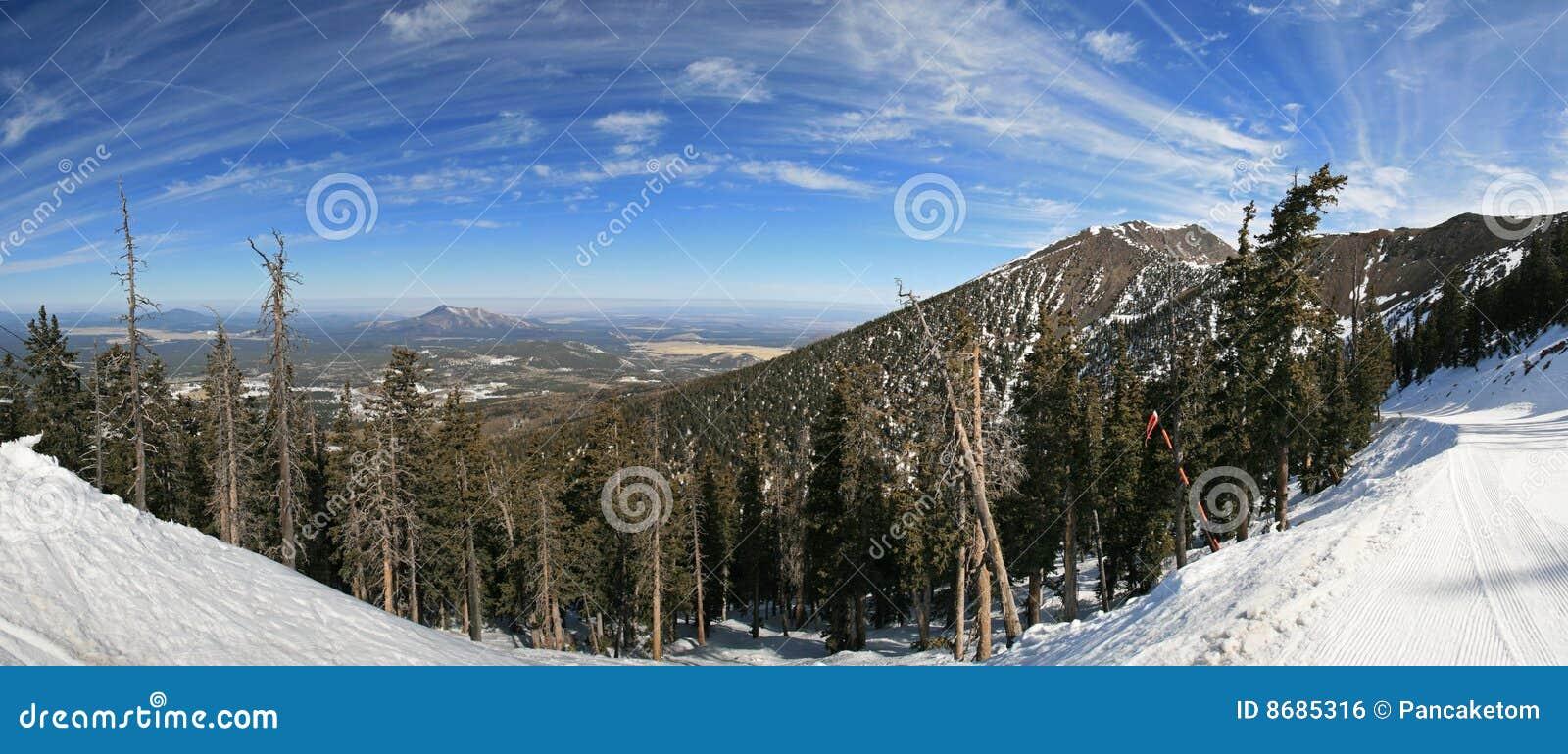 Het panorama van Arizona Snowbowl