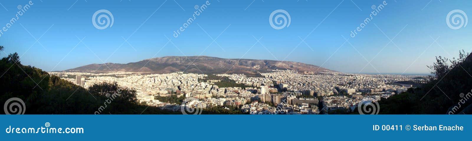 Het panorama van Athene