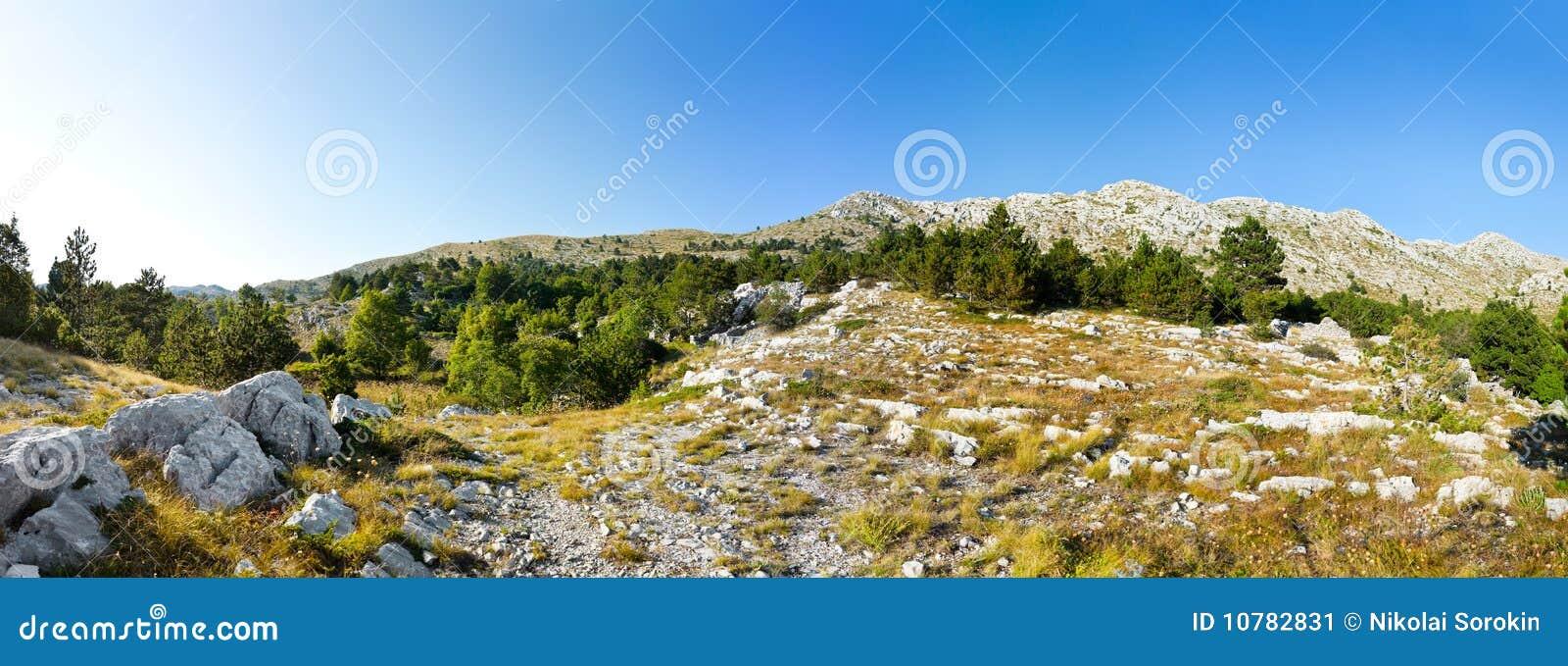 Het panorama van bergen