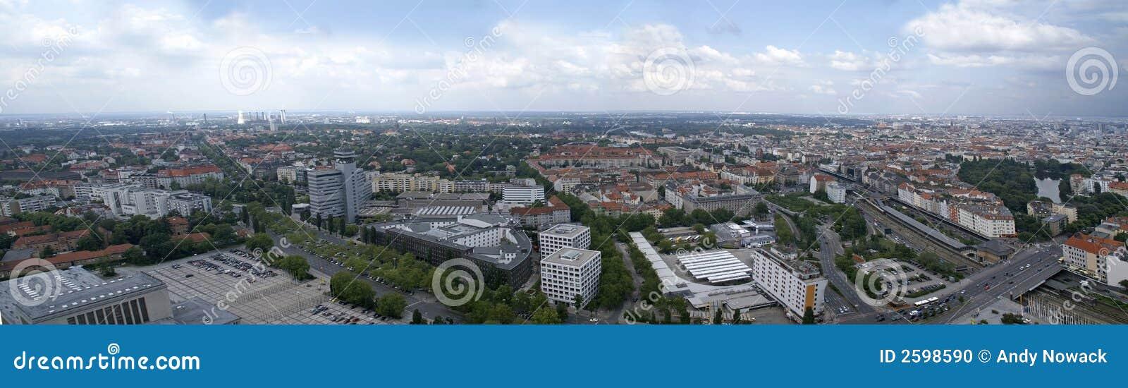 Het panorama van Berlijn