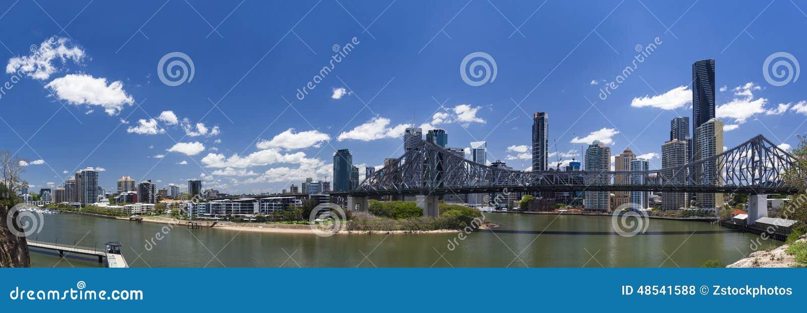 Het panorama van Brisbane