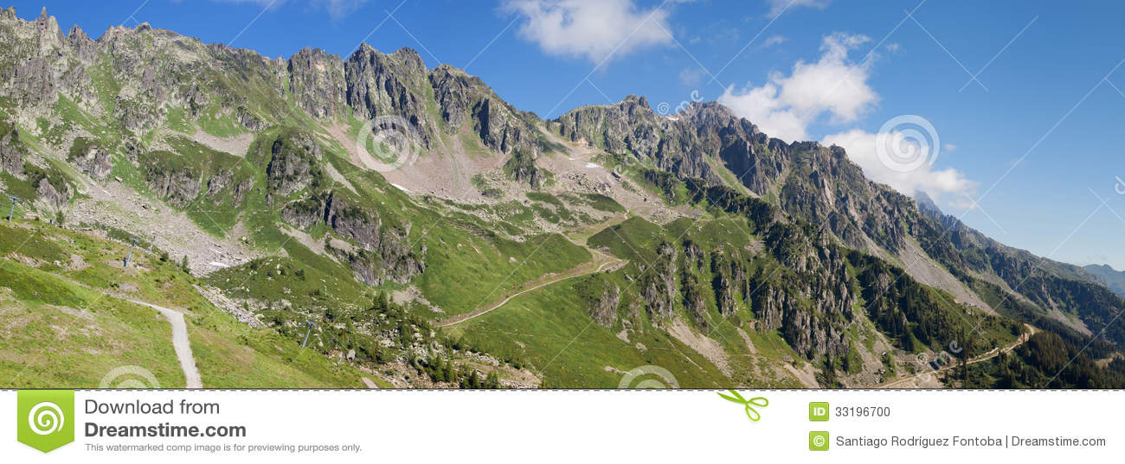 Het panorama van de Aiguillesrouge