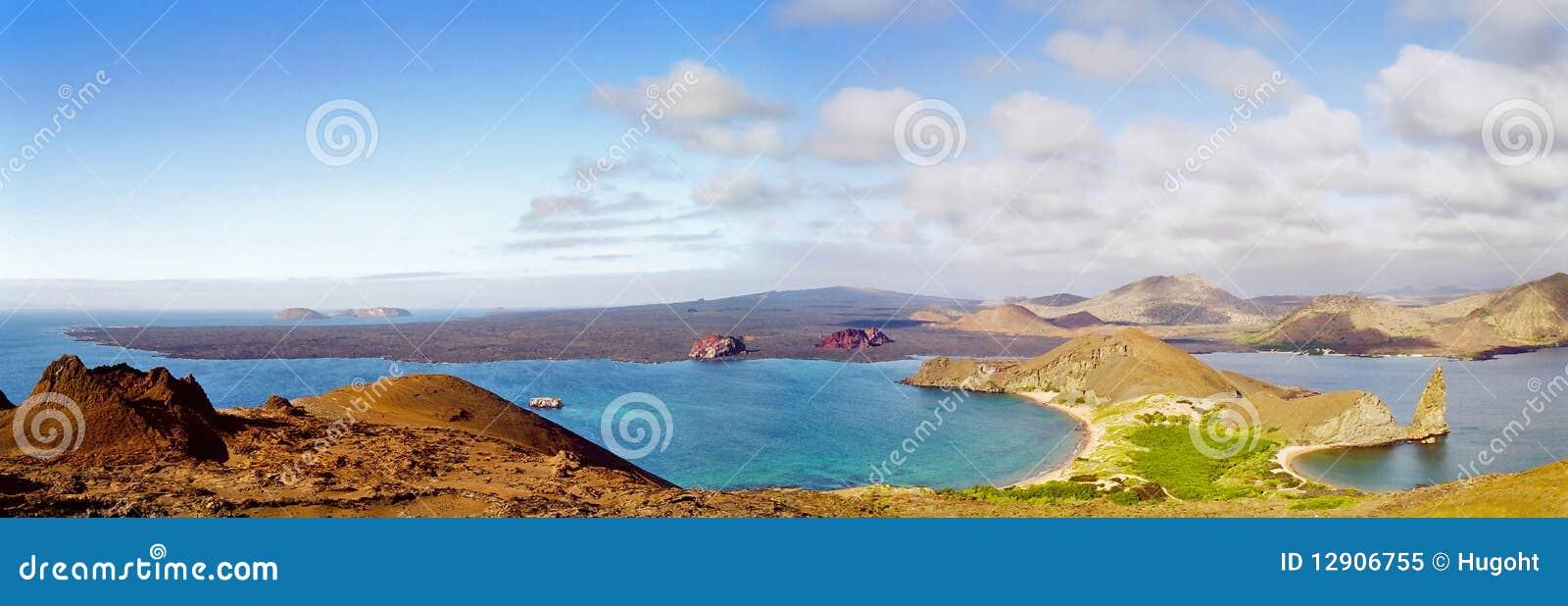 Het panorama van de Eilanden van de Galapagos
