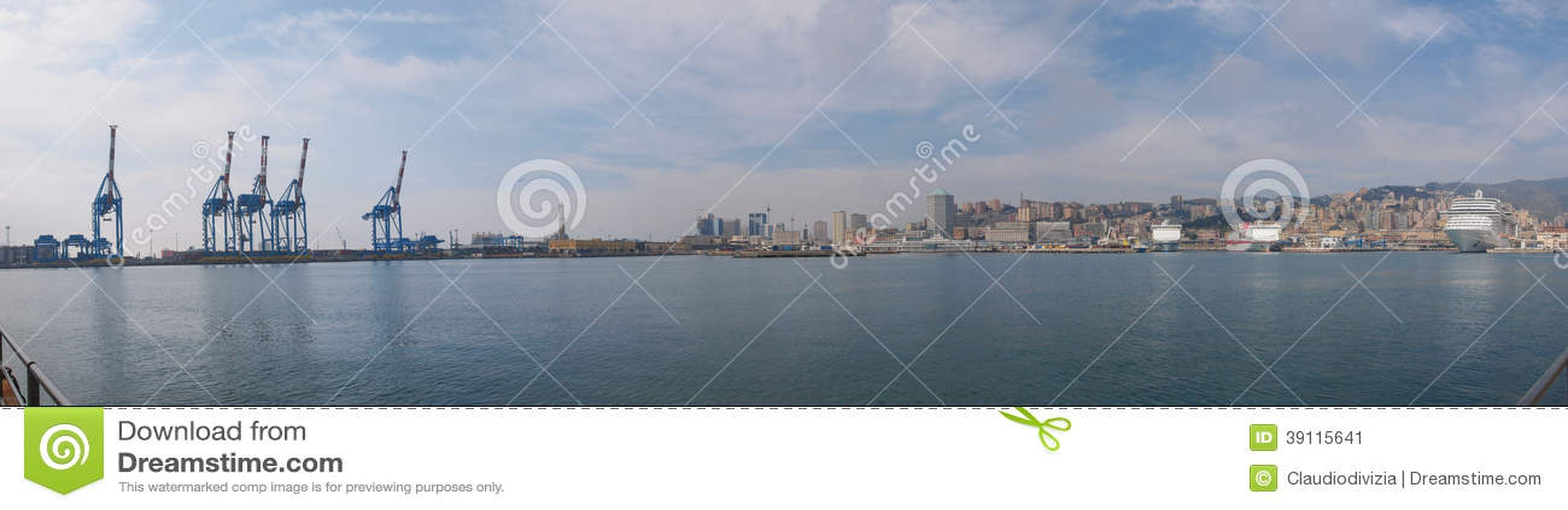 Het panorama van Genua